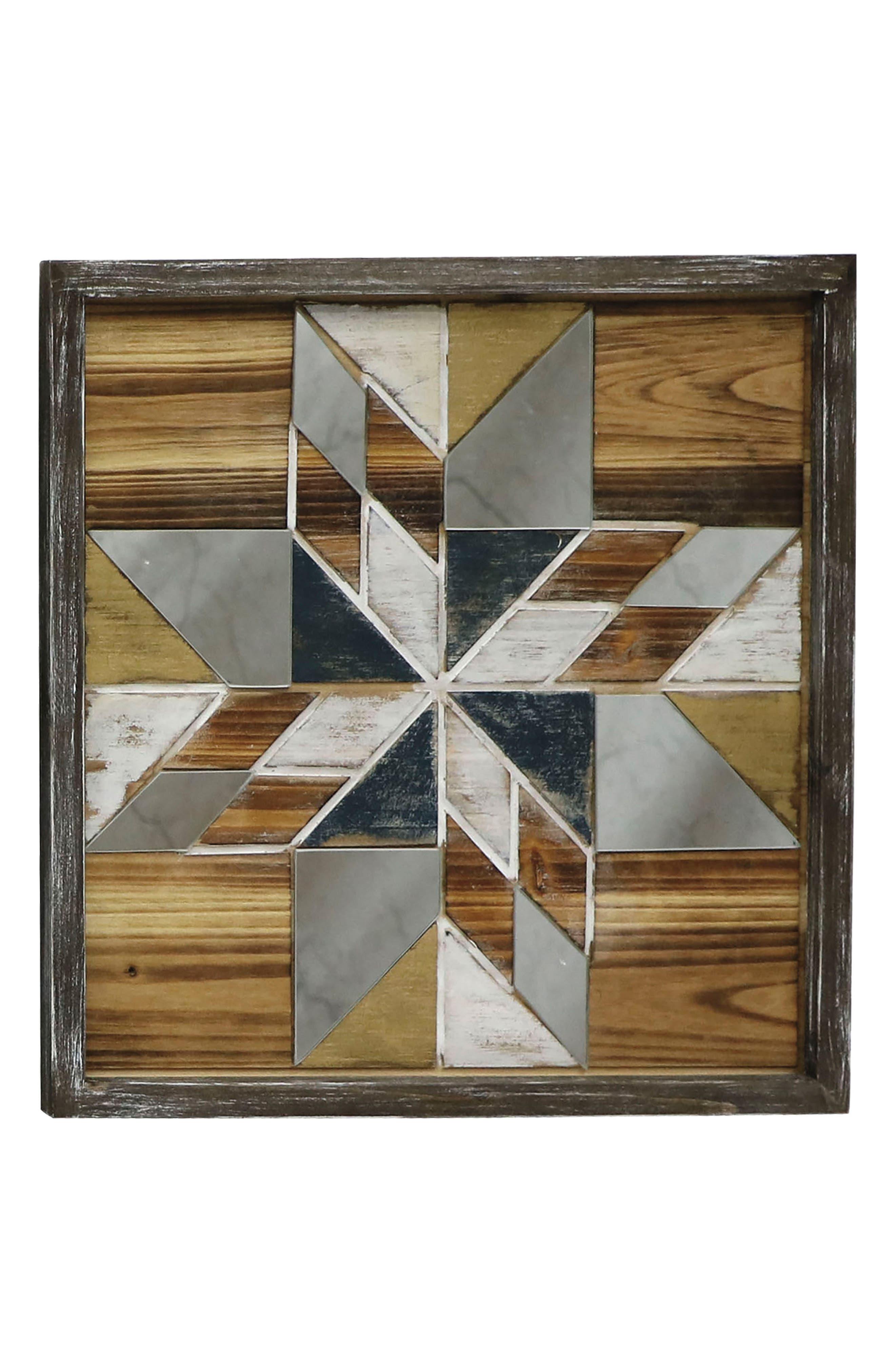 Mosaic Wall Art,                             Main thumbnail 1, color,                             Wood/ Glass