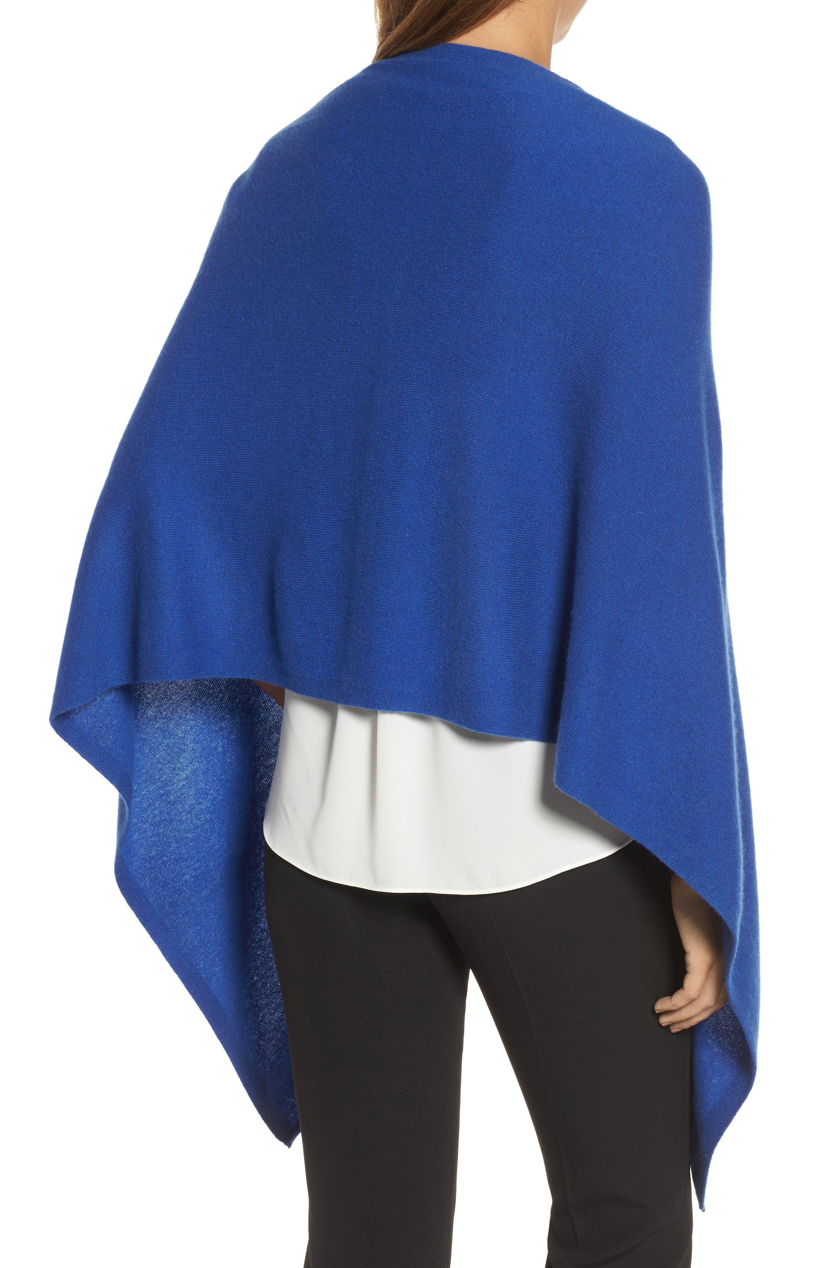 Alternate Image 2  - Halogen® Convertible Cashmere Poncho