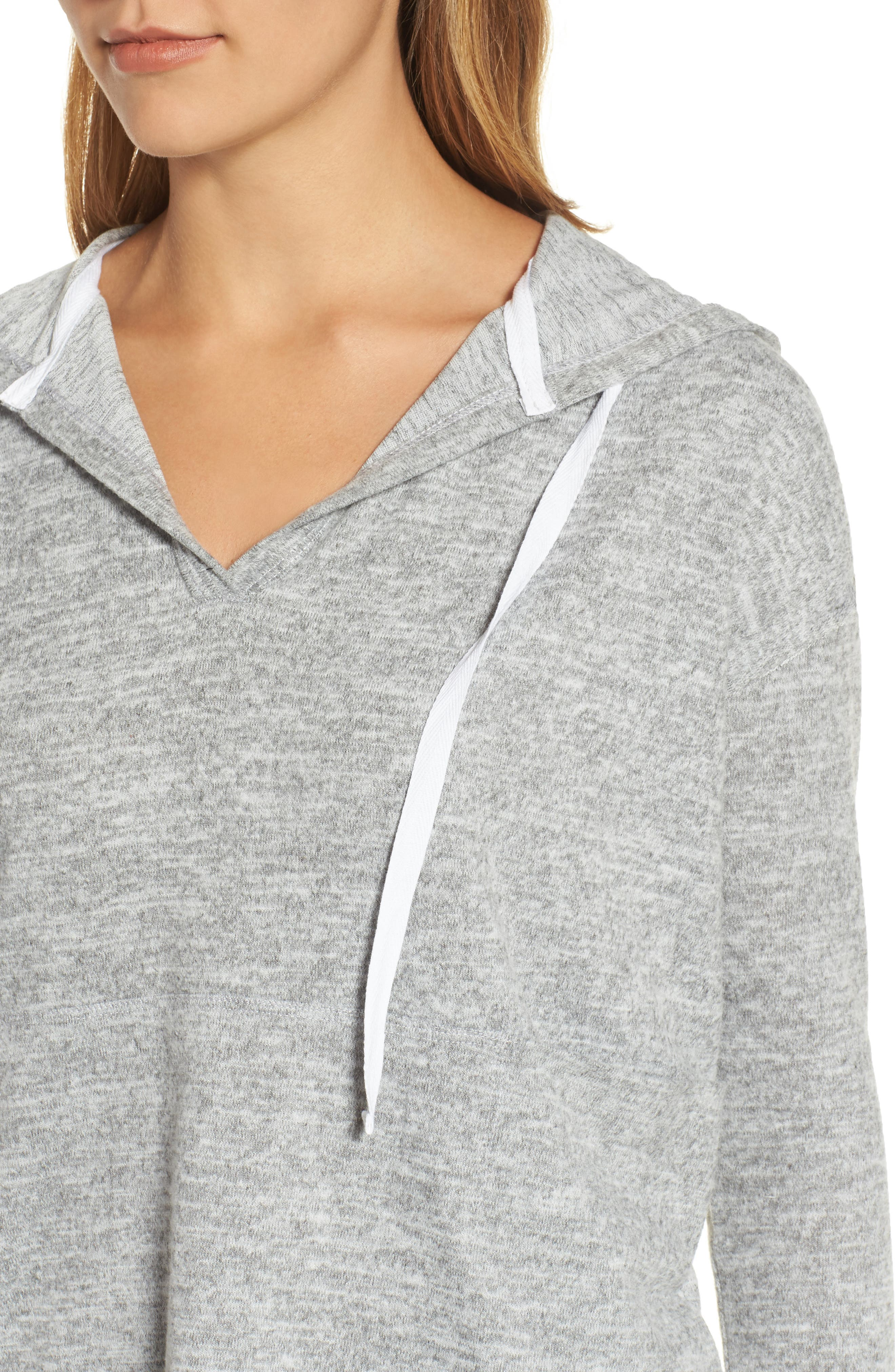 Alternate Image 4  - Caslon® Front Pocket Knit Hoodie