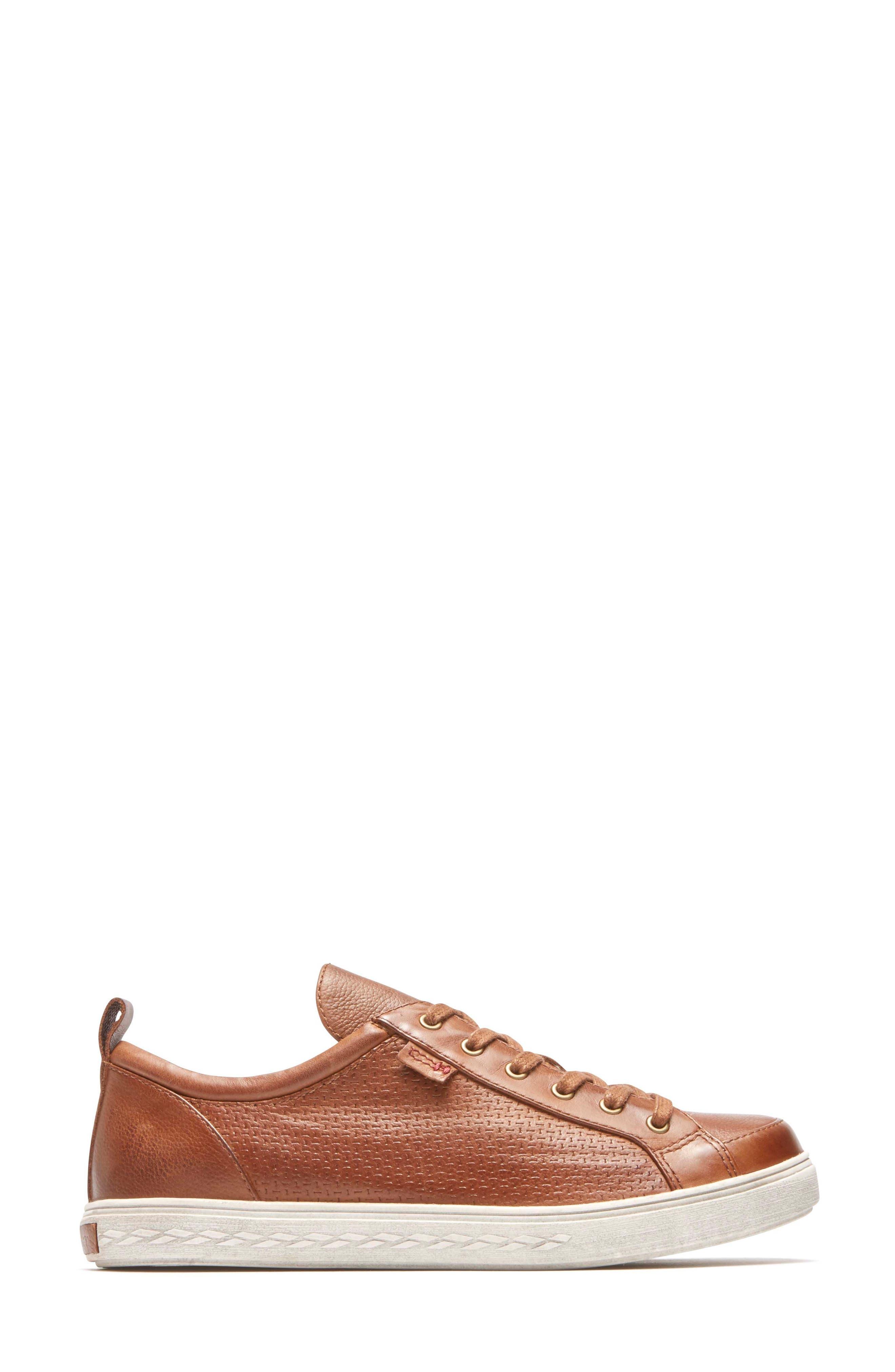 Willa Sneaker,                             Alternate thumbnail 3, color,                             Almond Leather