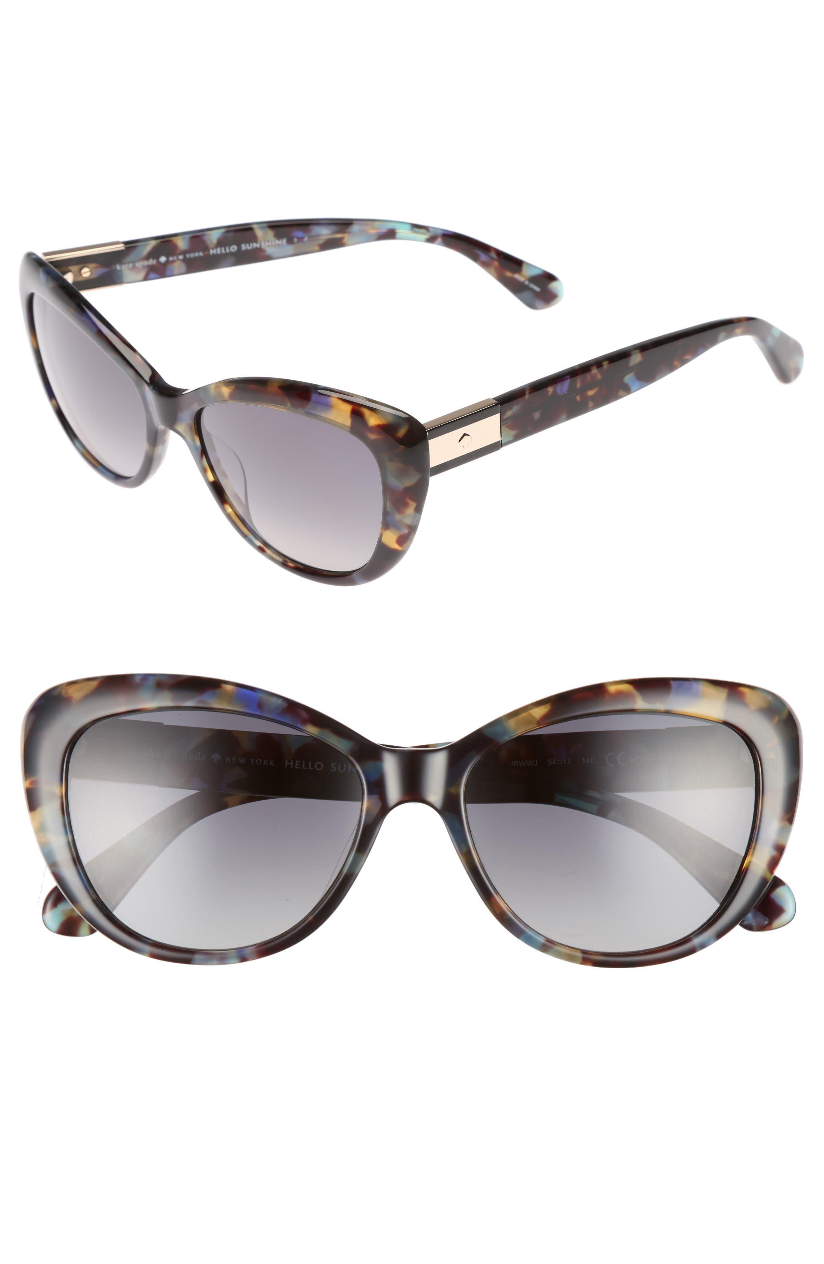 Alternate Image 1 Selected - kate spade new york emmalyn 54mm polarized cat eye sunglasses