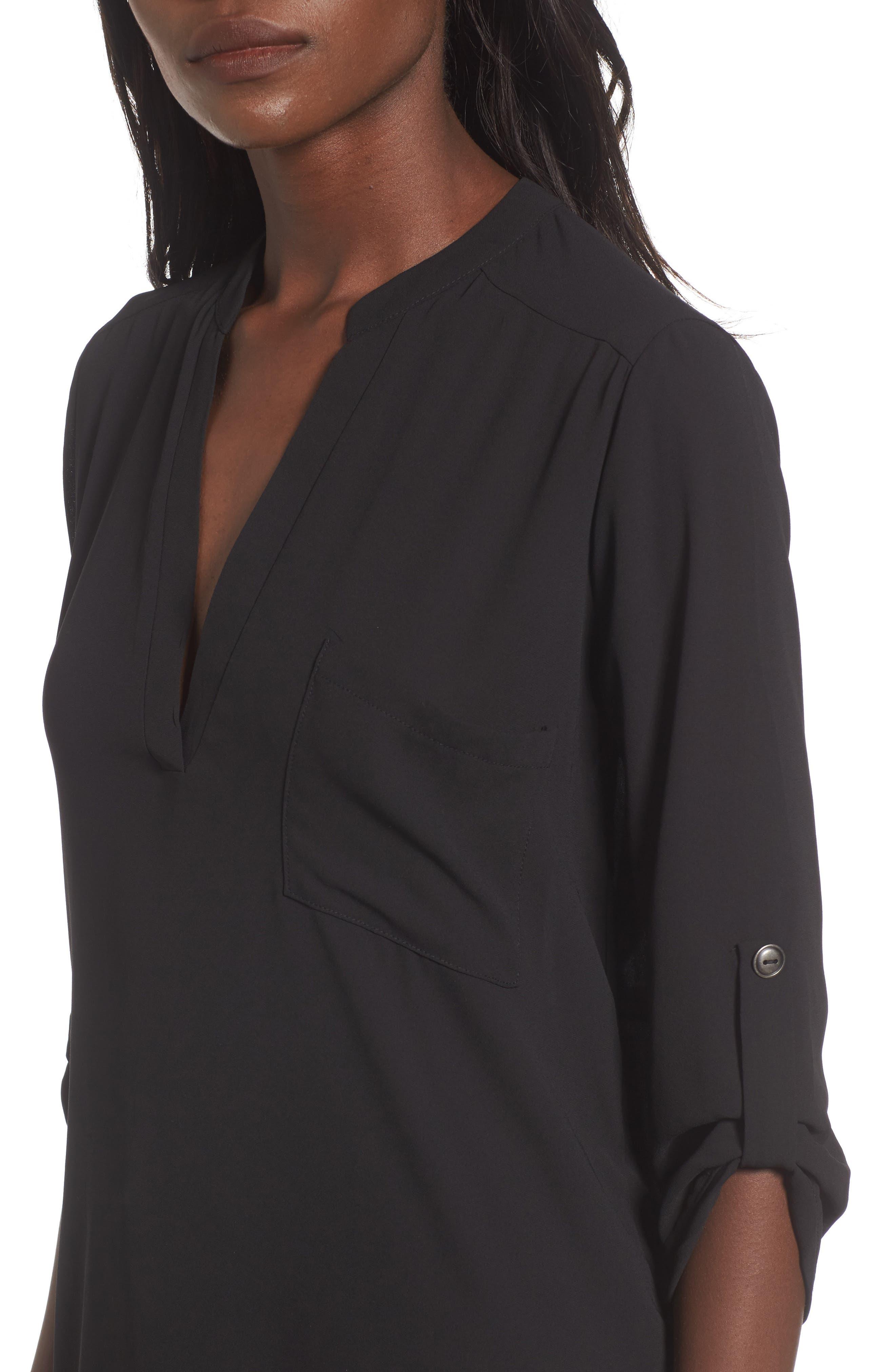 Alternate Image 5  - Lush Perfect Roll Tab Sleeve Tunic