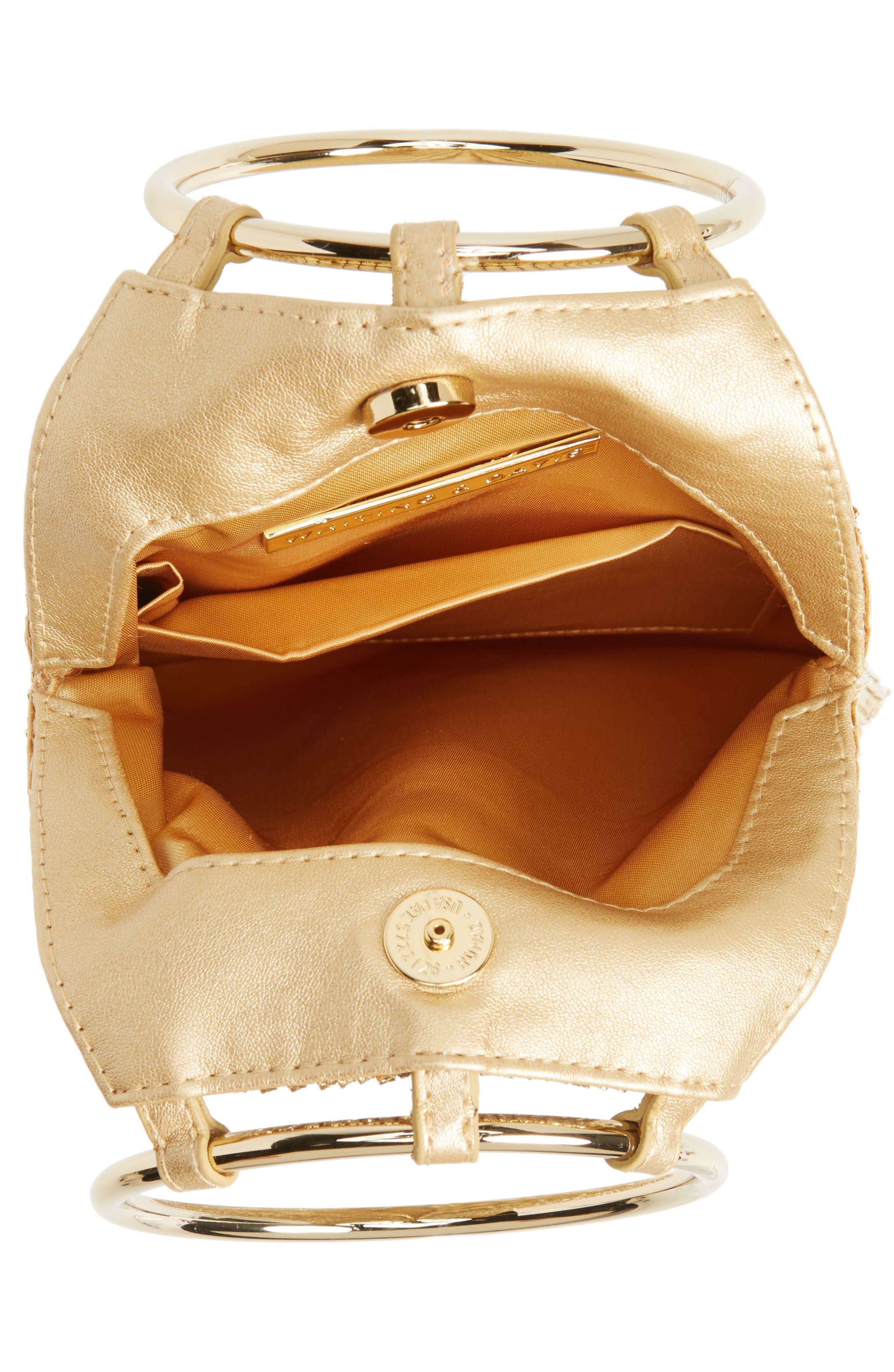 Alternate Image 4  - Whiting & Davis Cascade Crystal Fringe Mesh Bracelet Bag