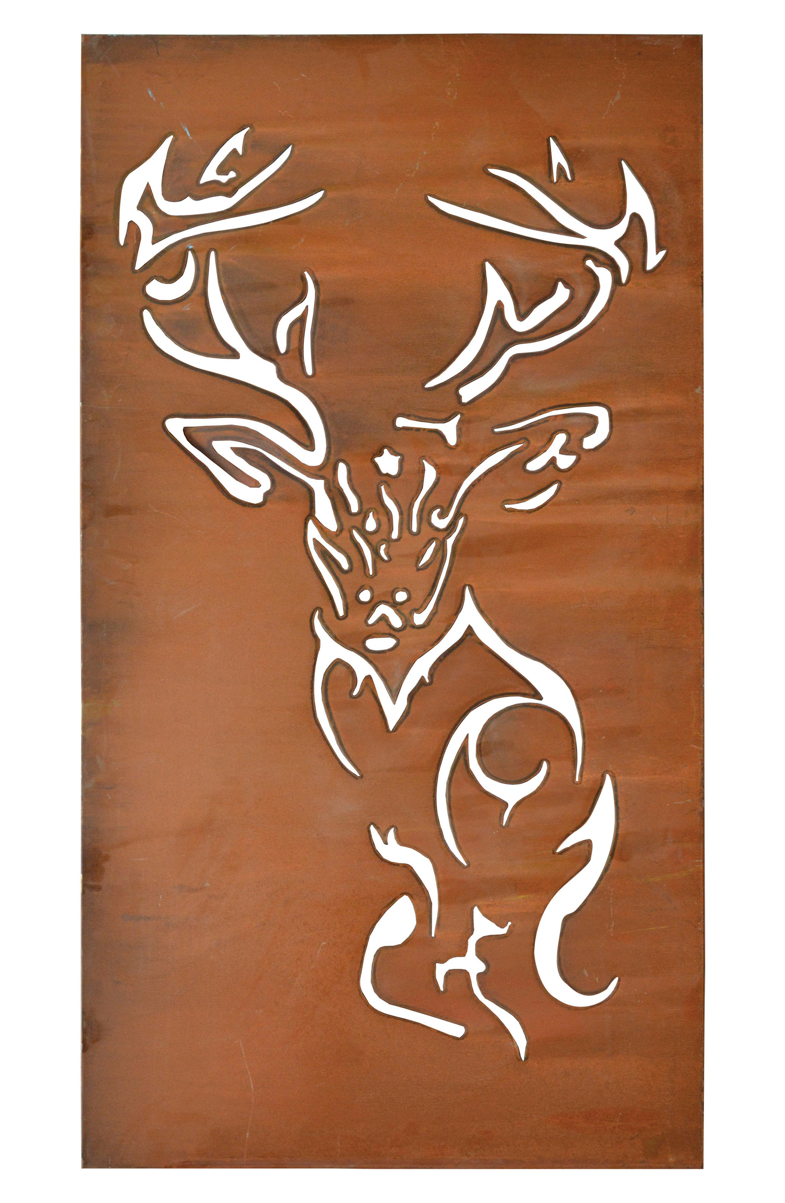 Deer Cutout Wall Art,                         Main,                         color, Metal