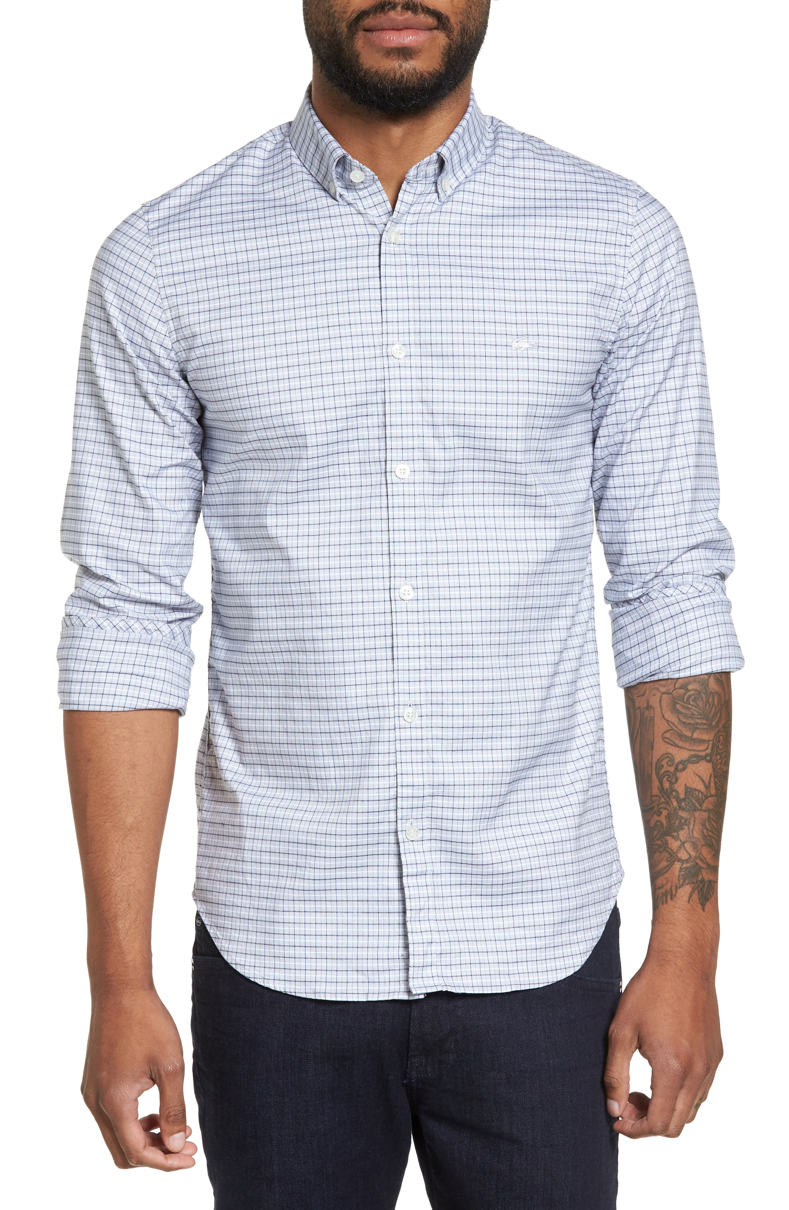 Lacoste Slim Fit Plaid Shirt