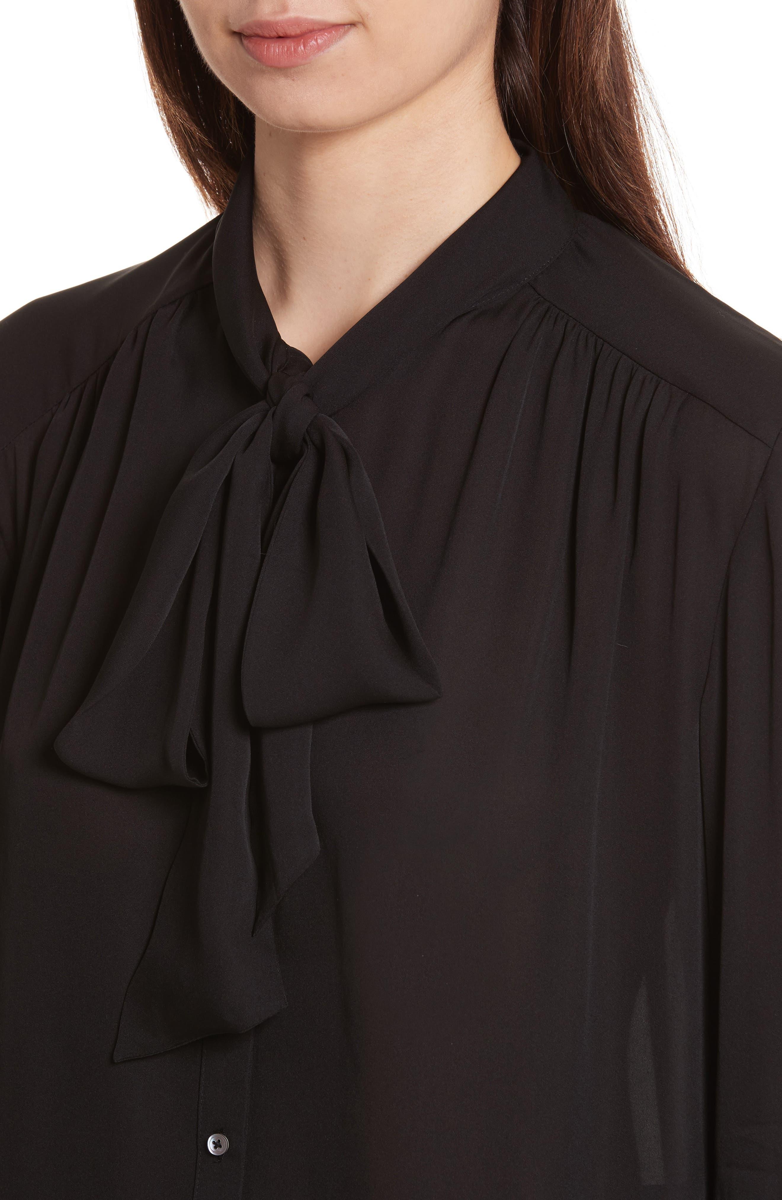 Alternate Image 4  - Joie Esti Tie Neck Silk Blouse