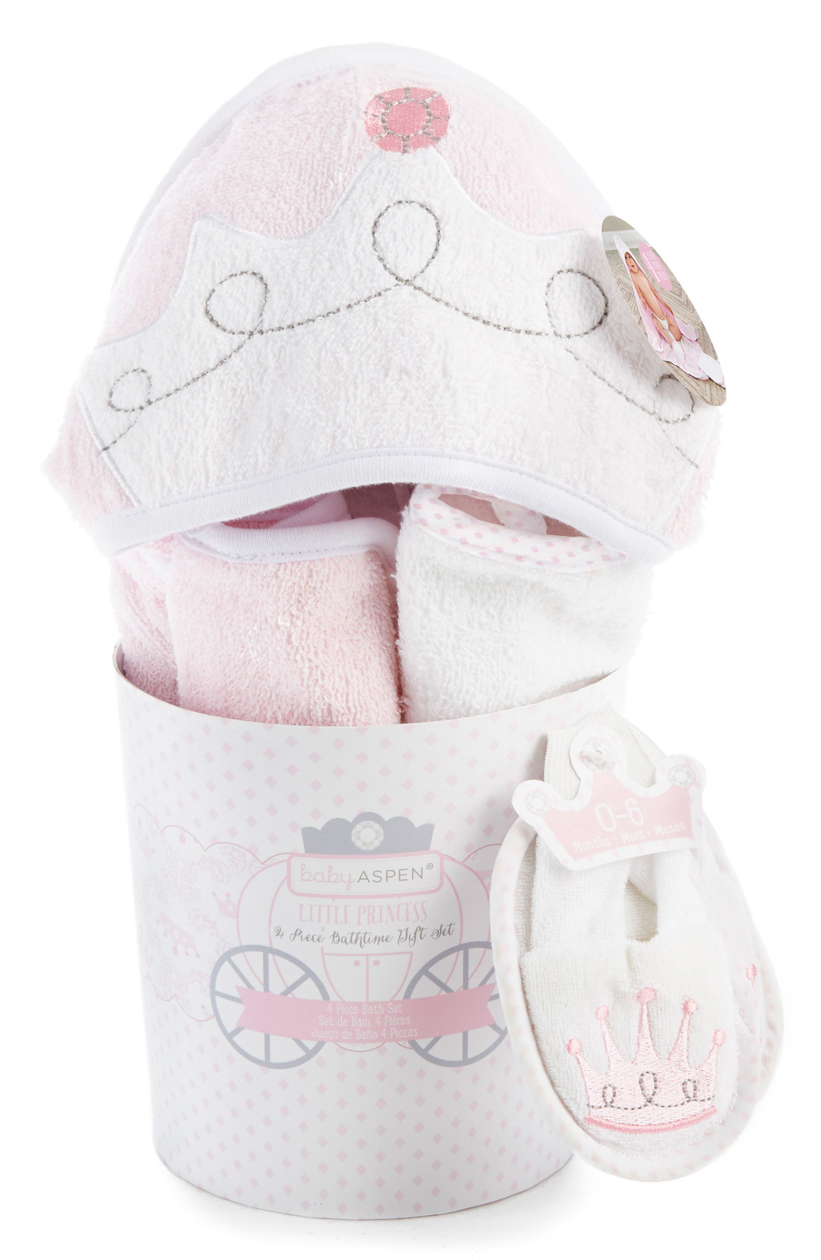 Alternate Image 2  - Baby Aspen Little Princess 4-Piece Bath Set (Baby Girls)