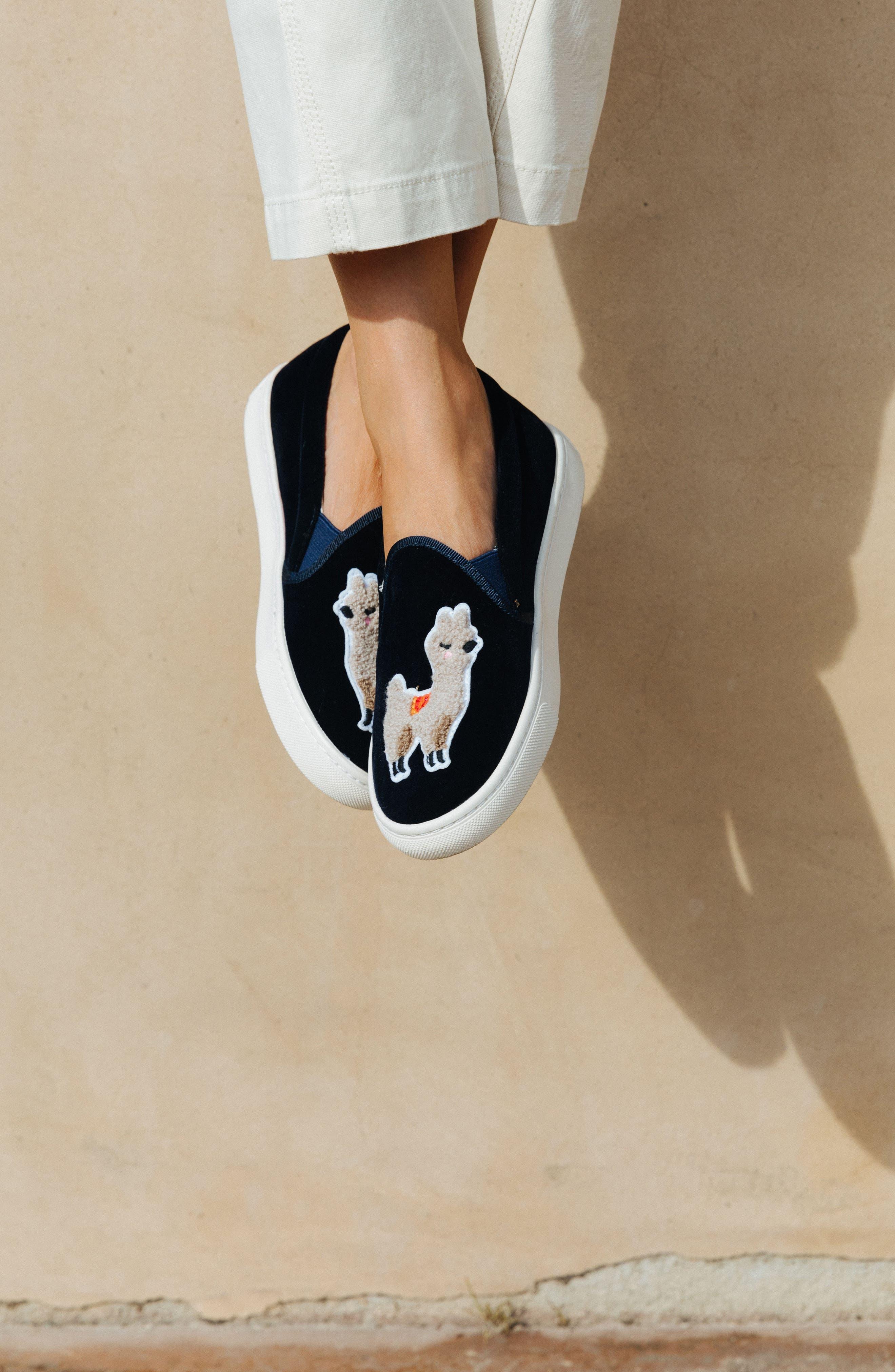 Alternate Image 8  - Soludos Velvet Sneaker (Women)