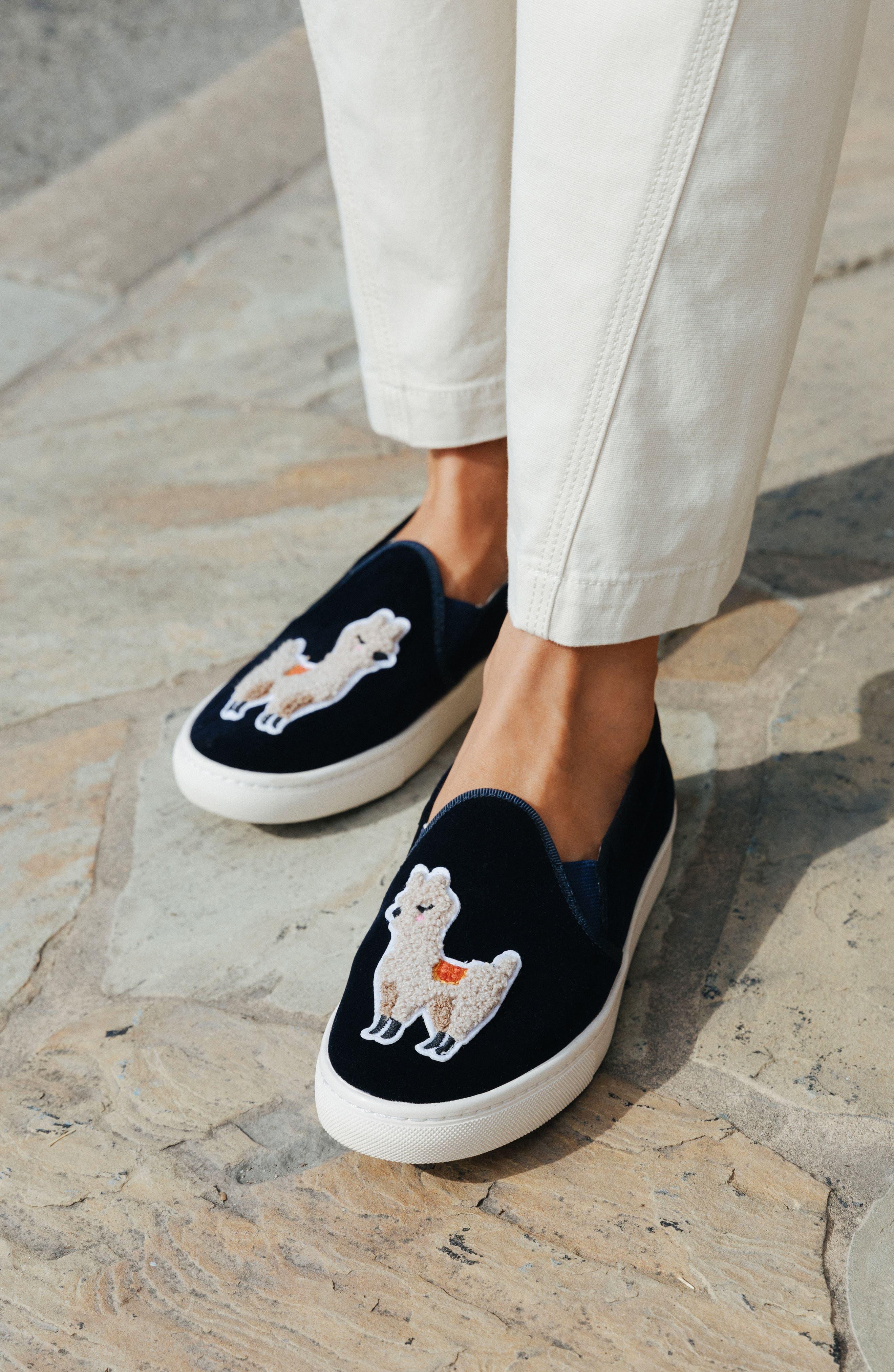 Alternate Image 7  - Soludos Velvet Sneaker (Women)