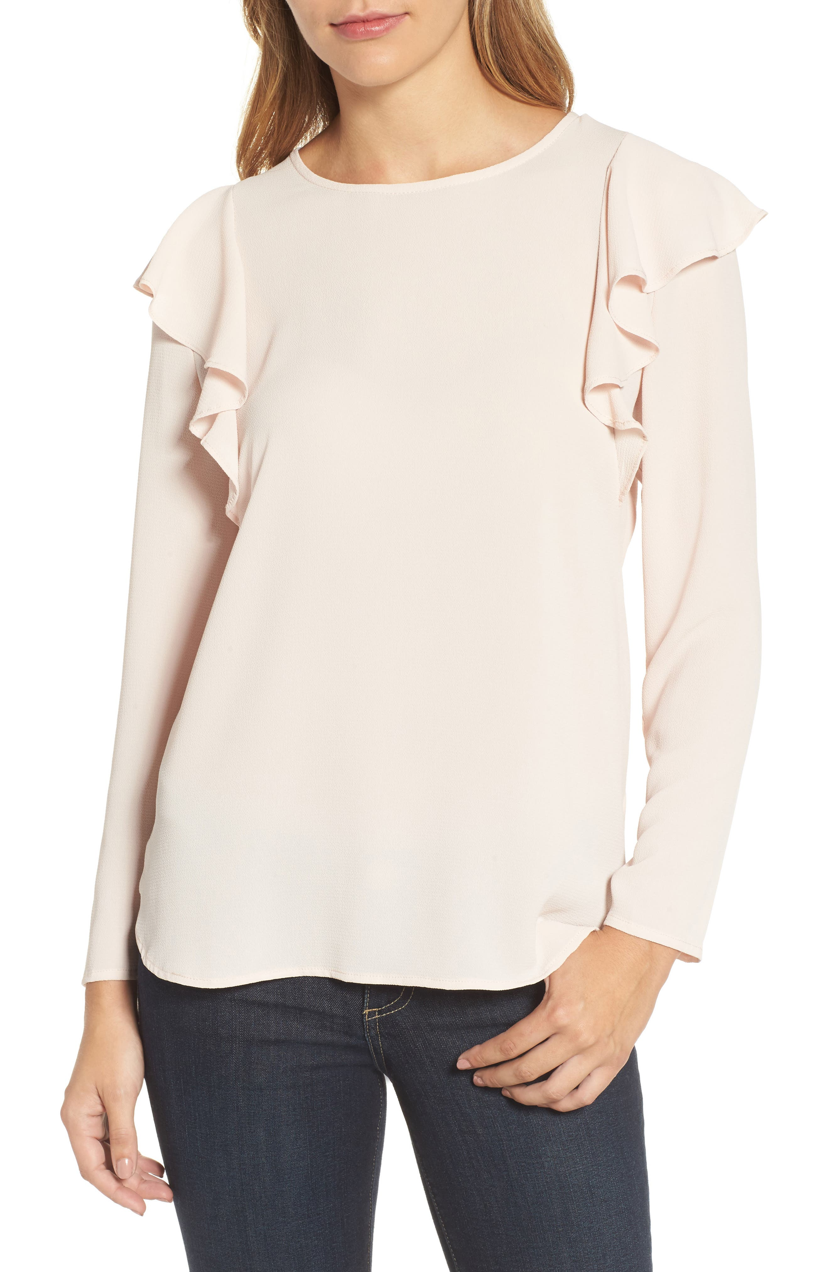 KUT from the Kloth Maki Ruffle Shoulder Top