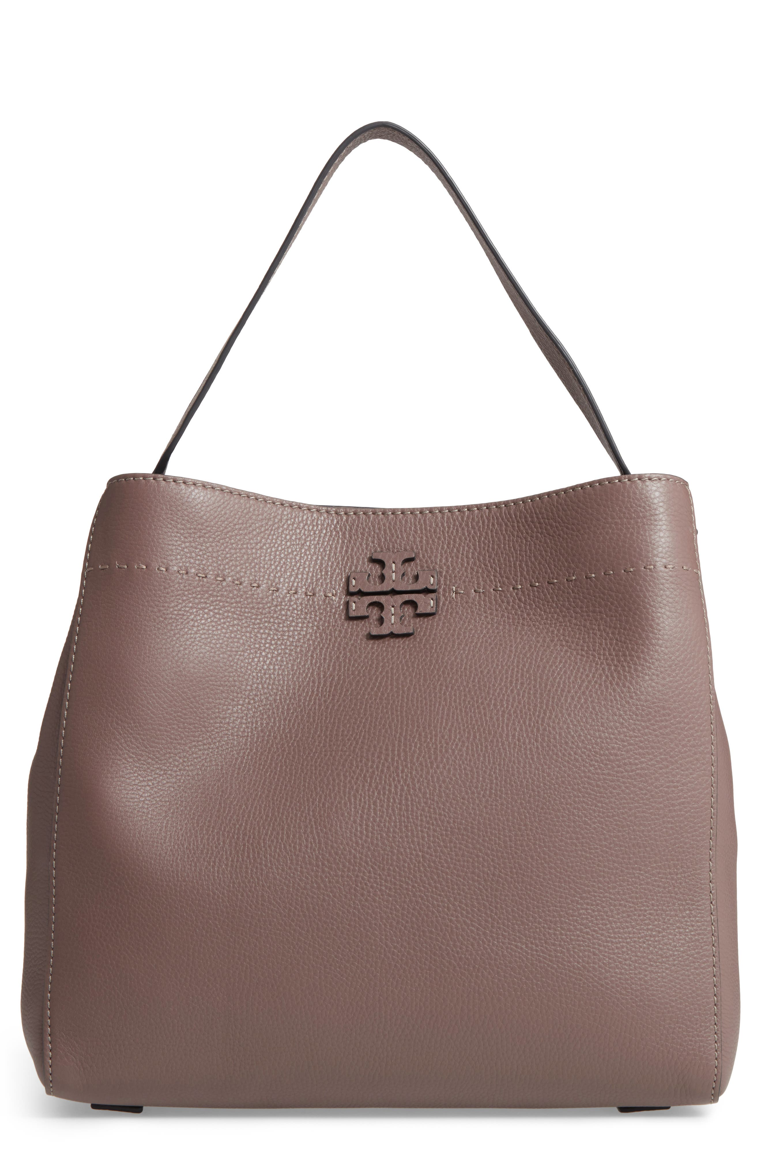 Alternate Image 1 Selected - Tory Burch McGraw Leather Hobo