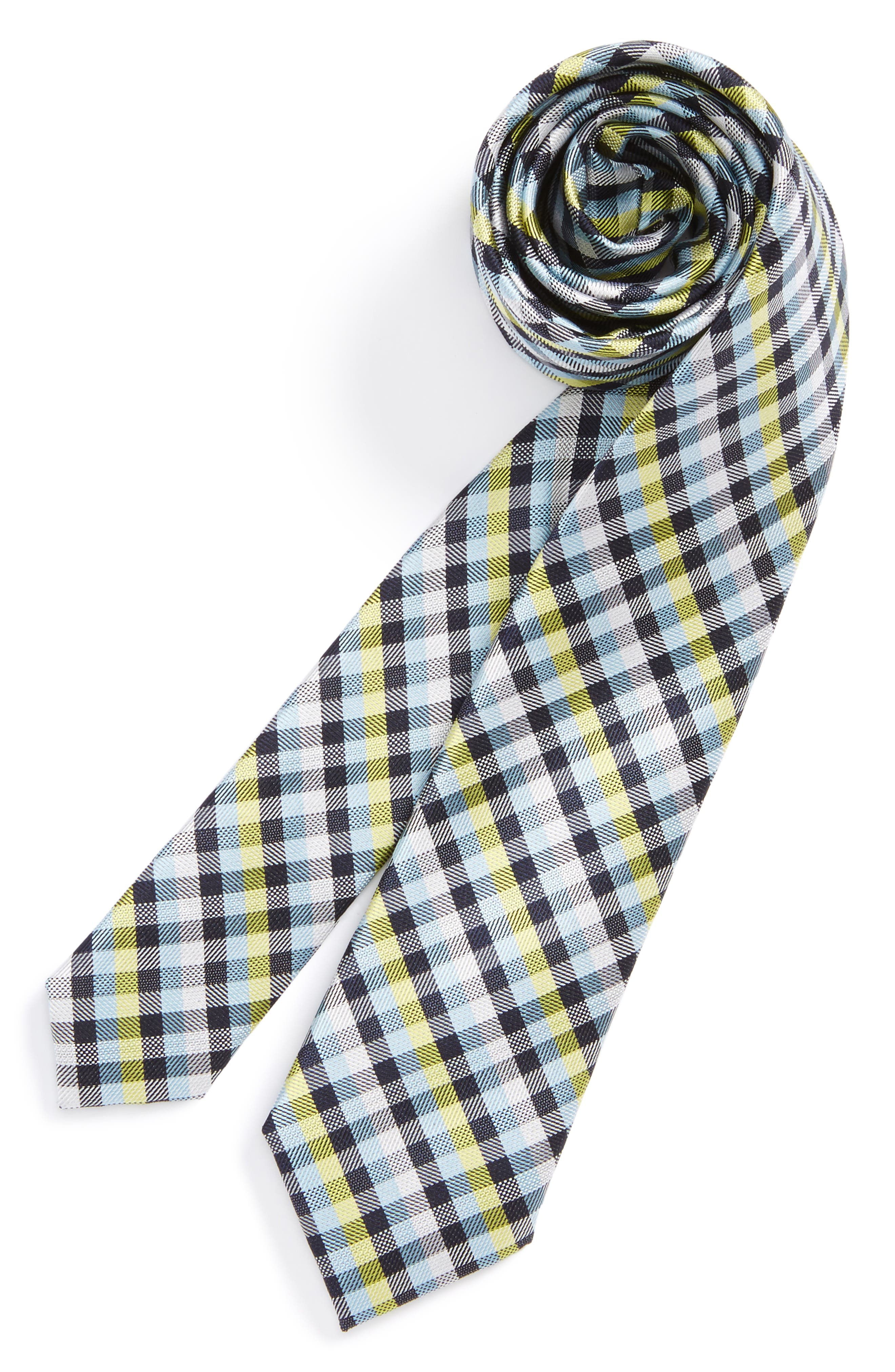 Nordstrom Check Silk Tie (Big Boys)