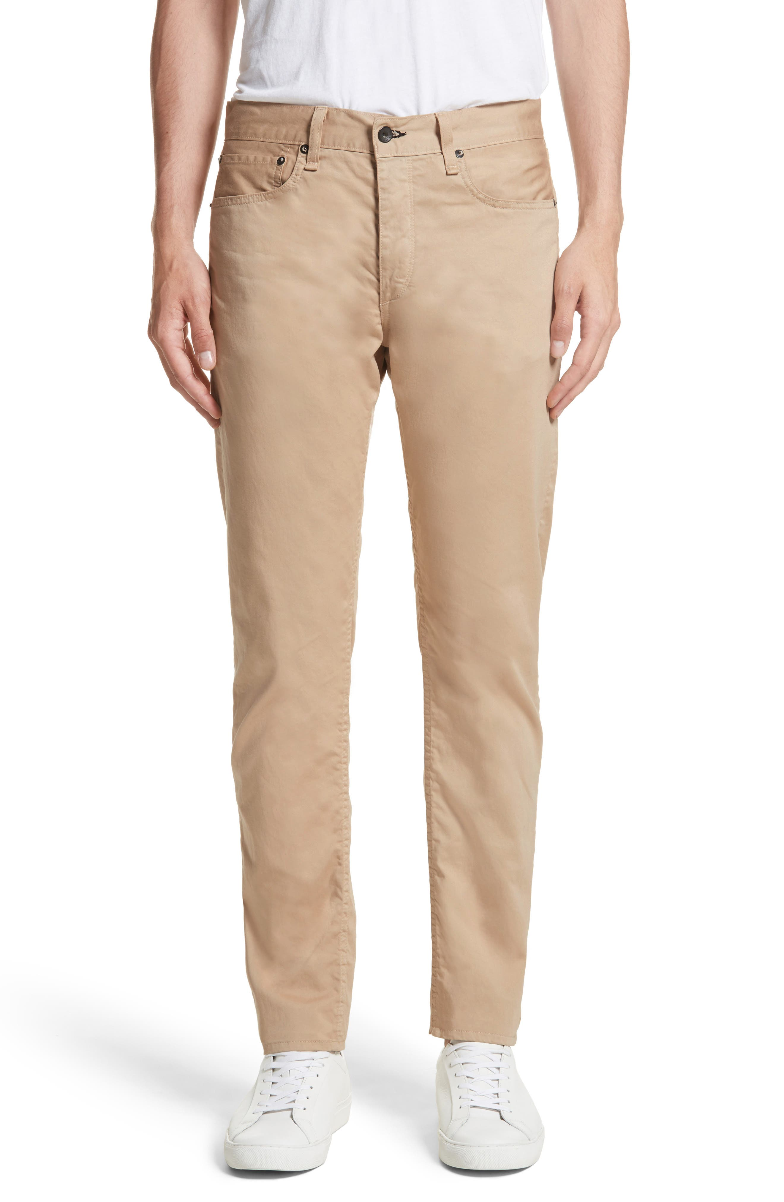 Fit 2 Five-Pocket Twill Pants,                         Main,                         color, Beige