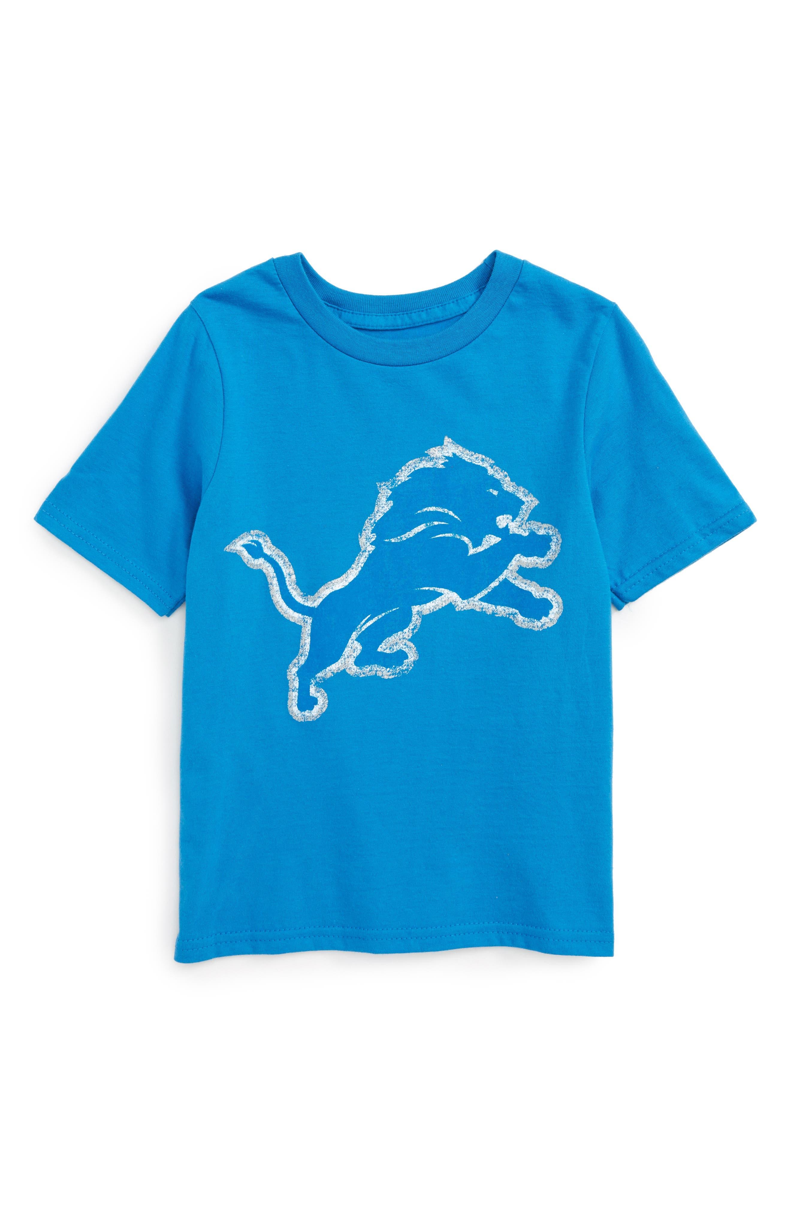 NFL Logo - Detroit Lions Distressed Logo T-Shirt,                         Main,                         color, Lions Blue