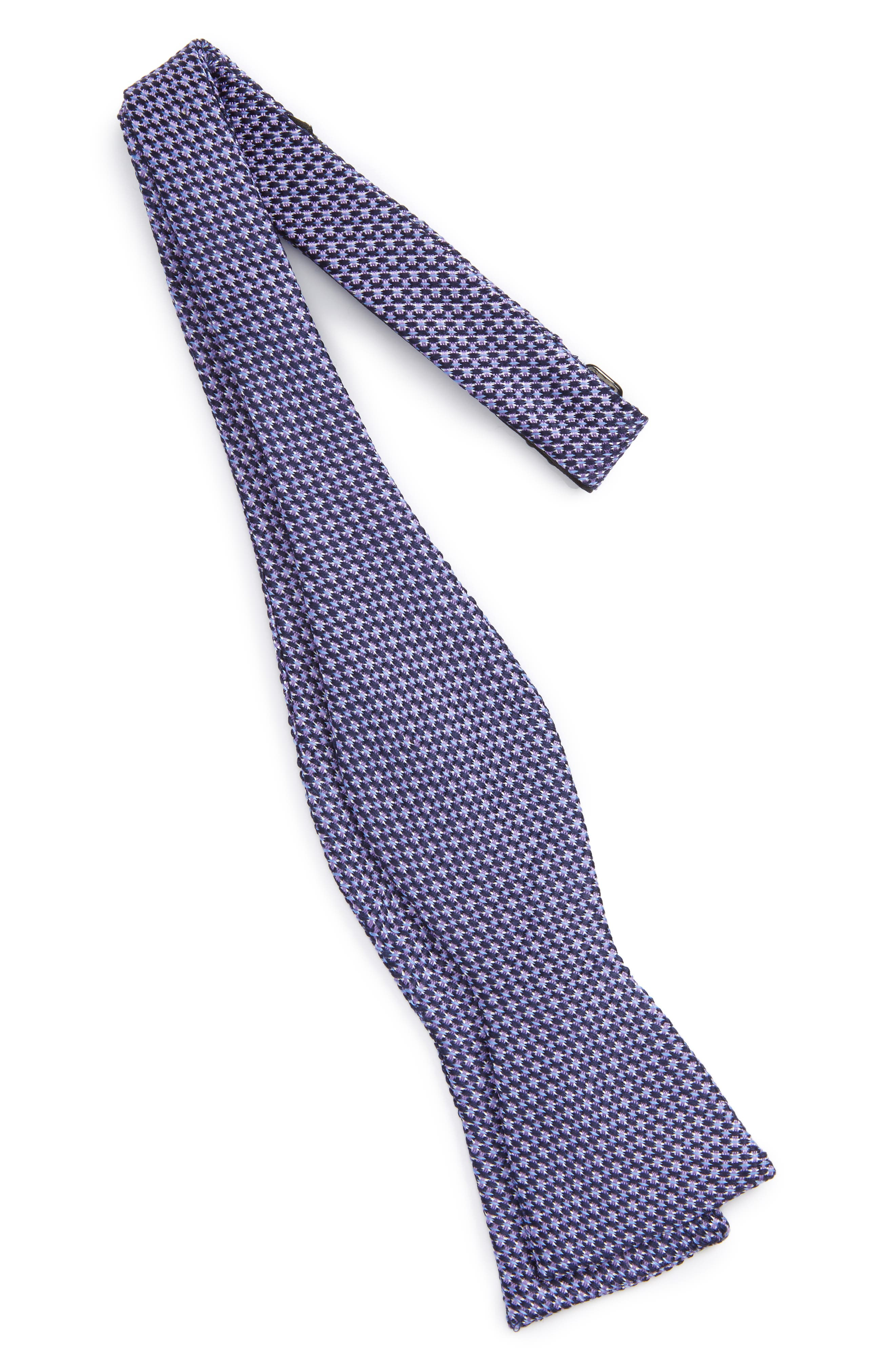 Textured Silk Bow Tie,                         Main,                         color, Lilac