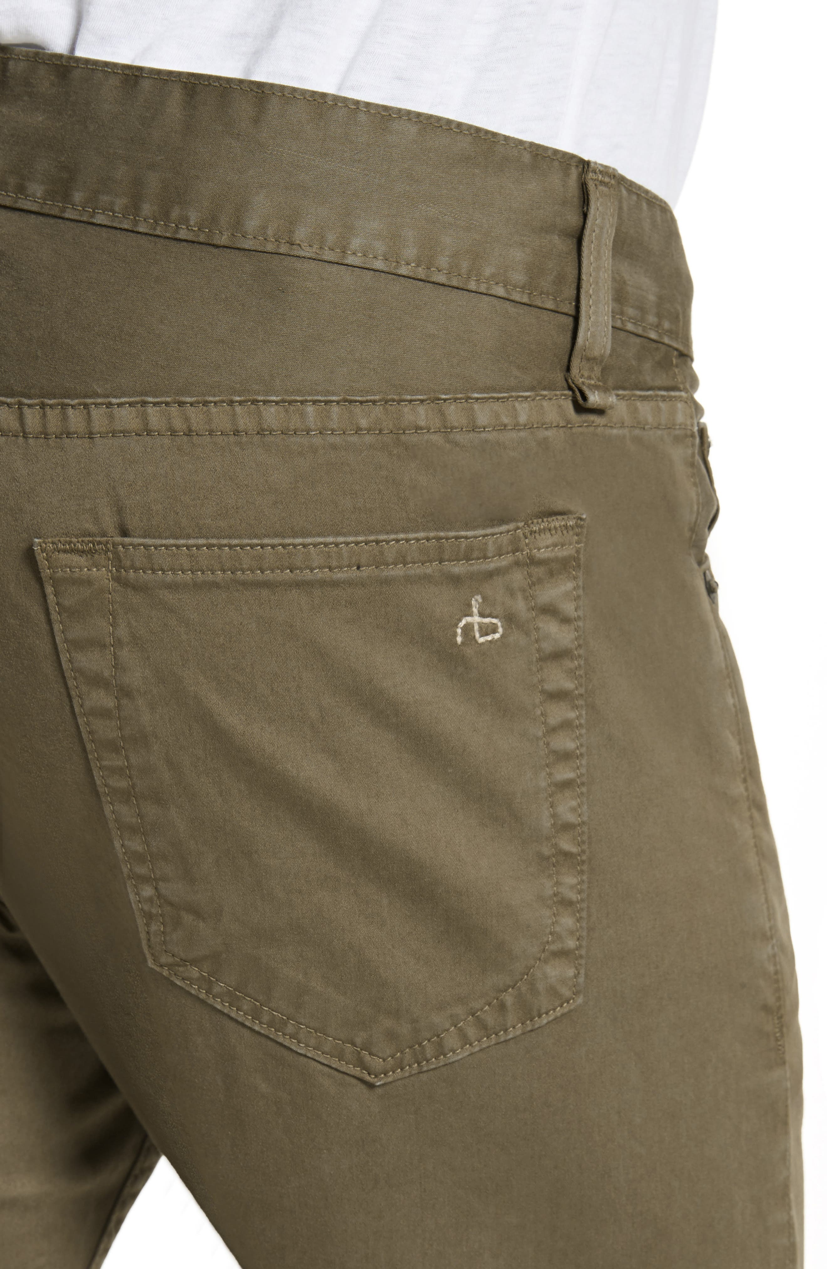 Alternate Image 4  - rag & bone Fit 1 Twill Skinny Fit Pants