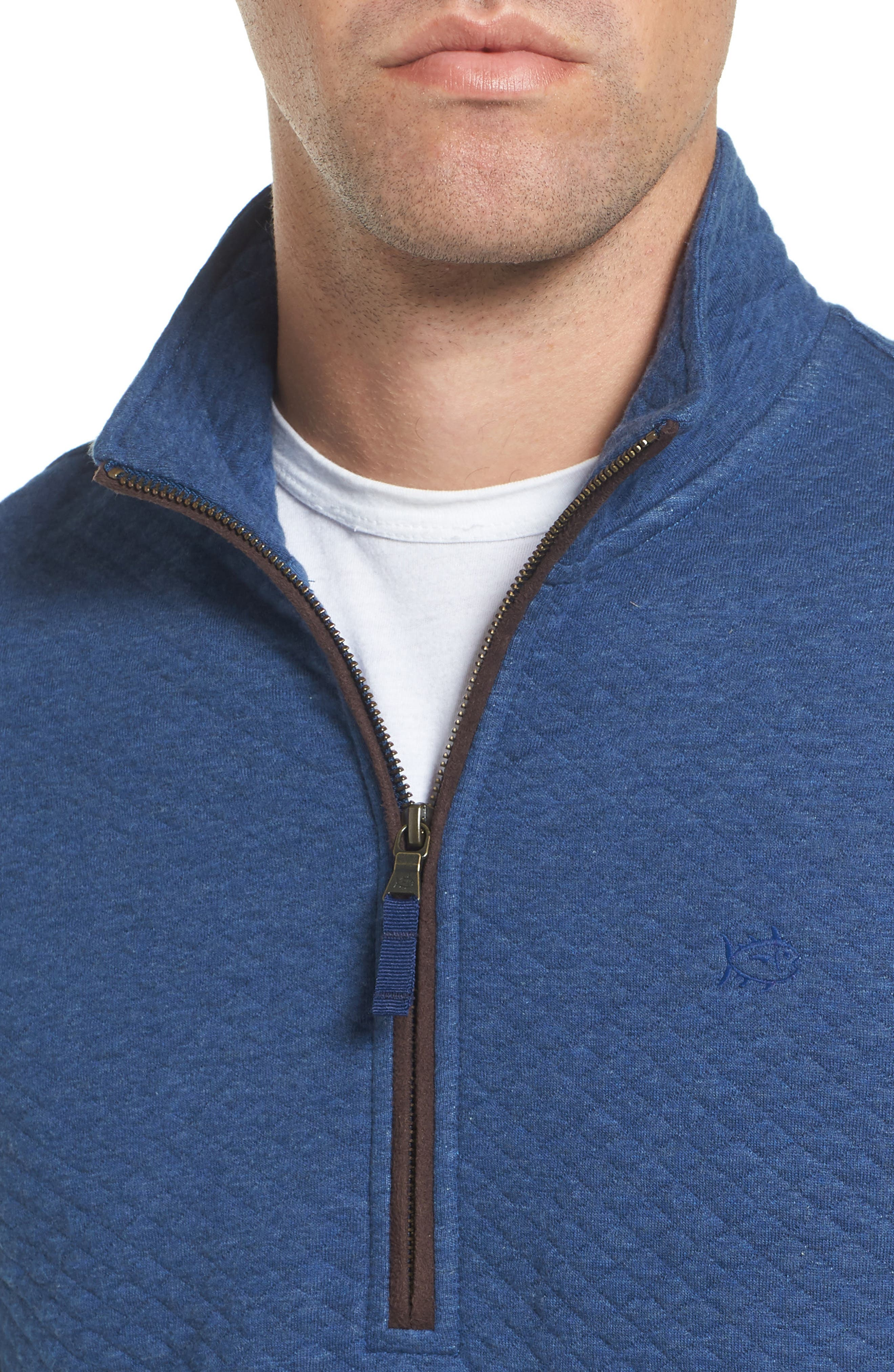 Alternate Image 4  - Southern Tide Sundown Quilted Quarter Zip Pullover
