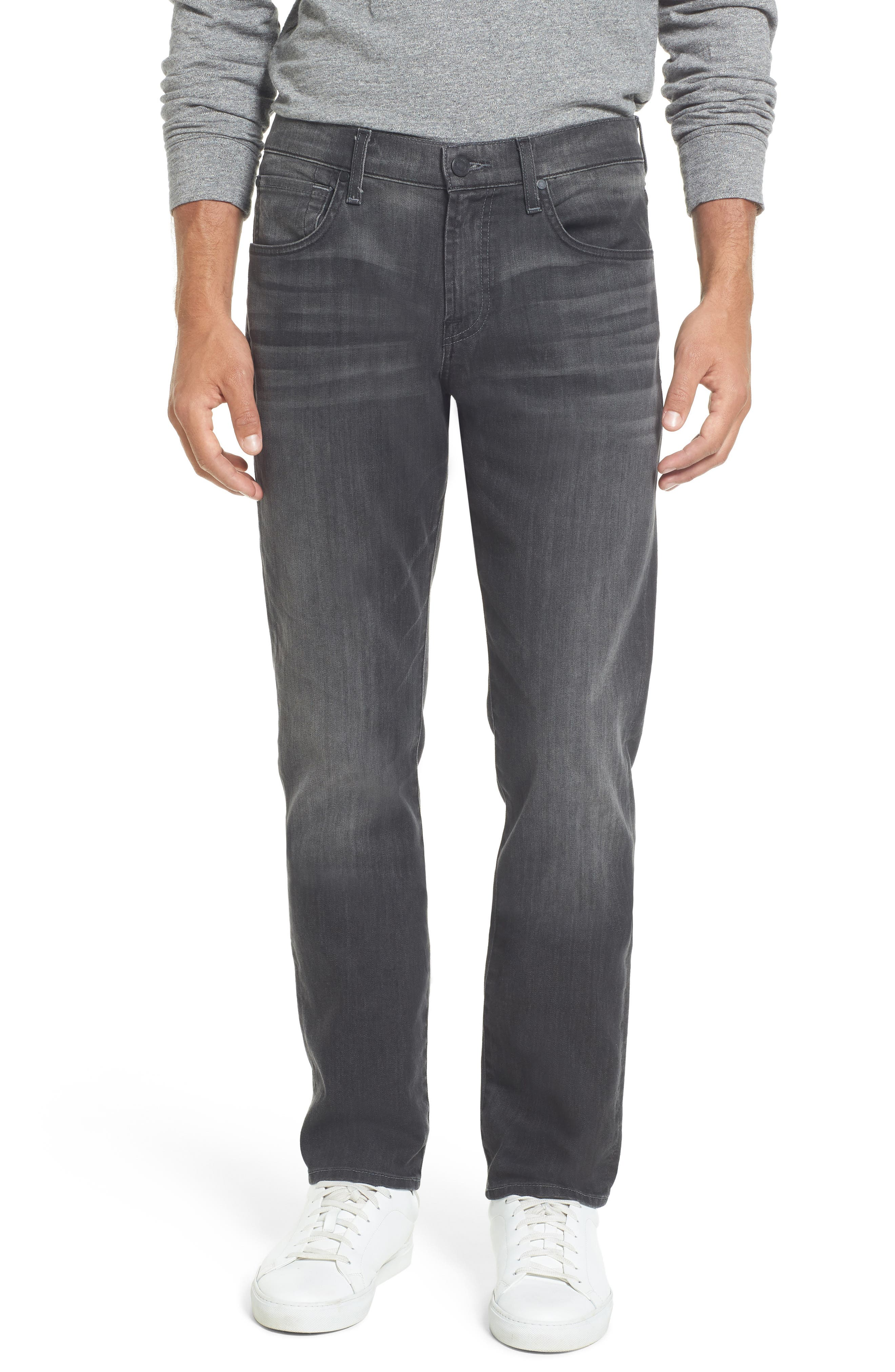 7 For All Mankind® The Straight Slim Straight Leg Jeans (Halide Grey)