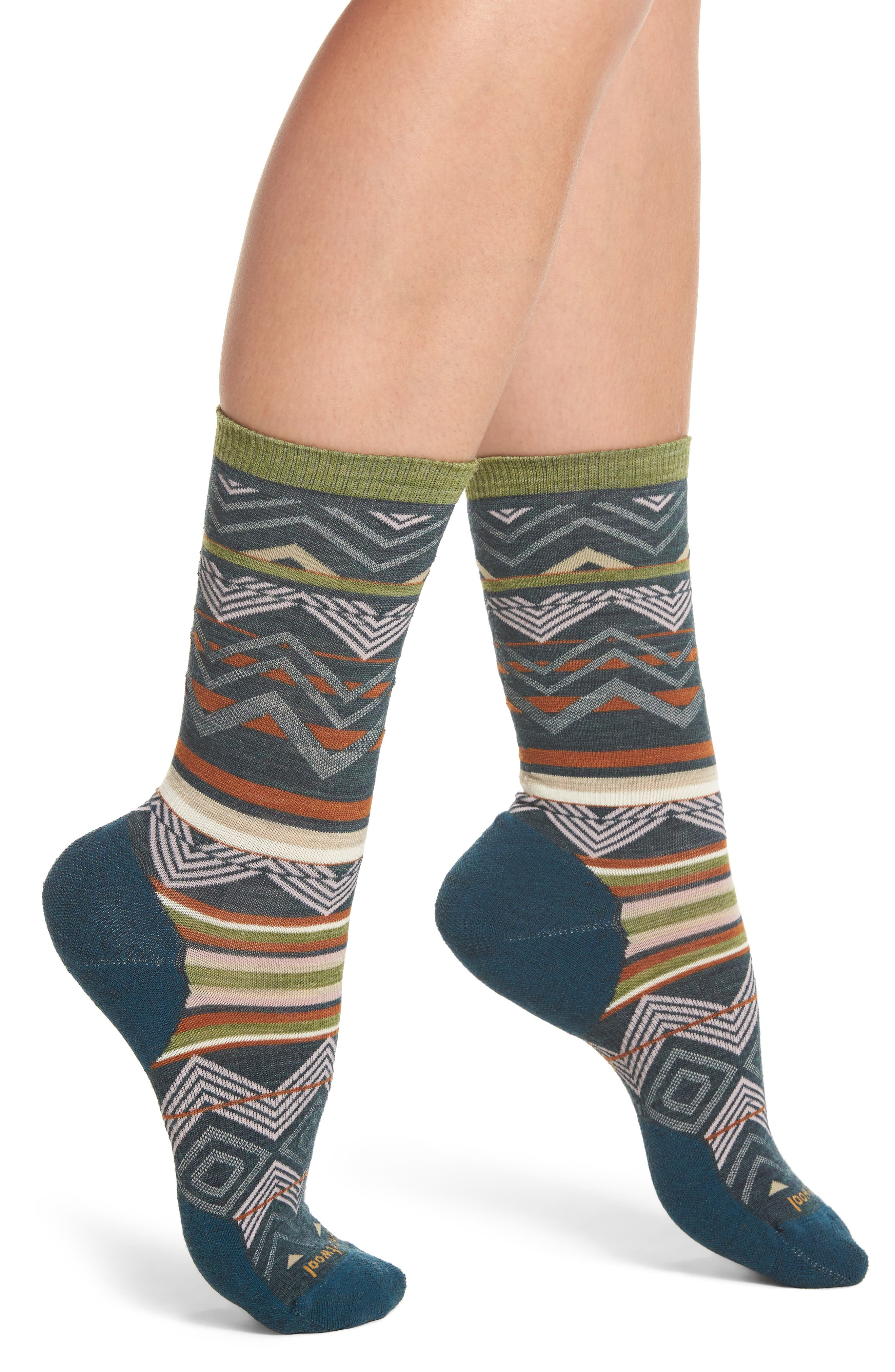 Ripple Creek Crew Socks,                             Main thumbnail 1, color,                             Lochness Heather