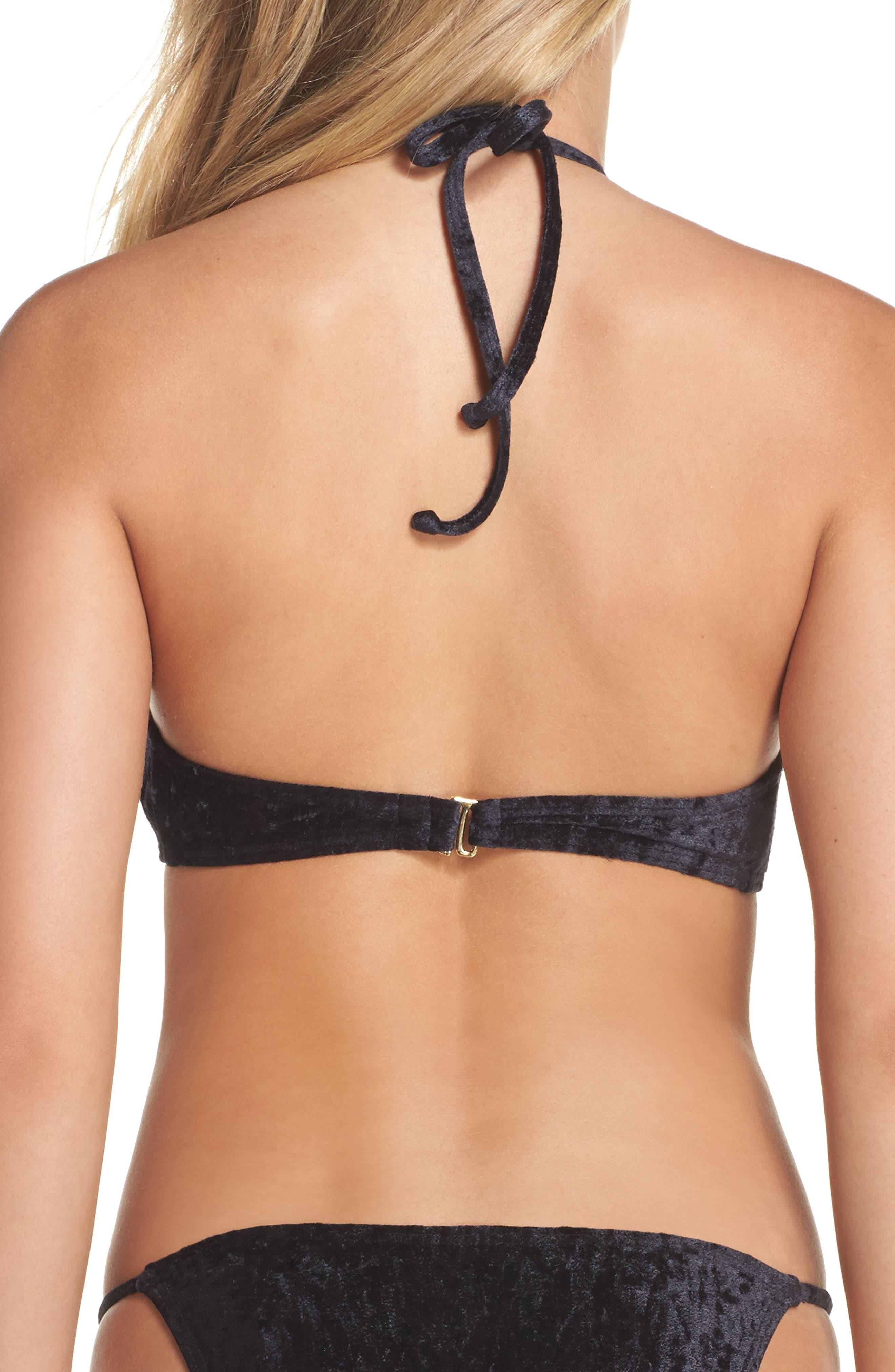 Alternate Image 2  - Leith Velvet Halter Bikini Top