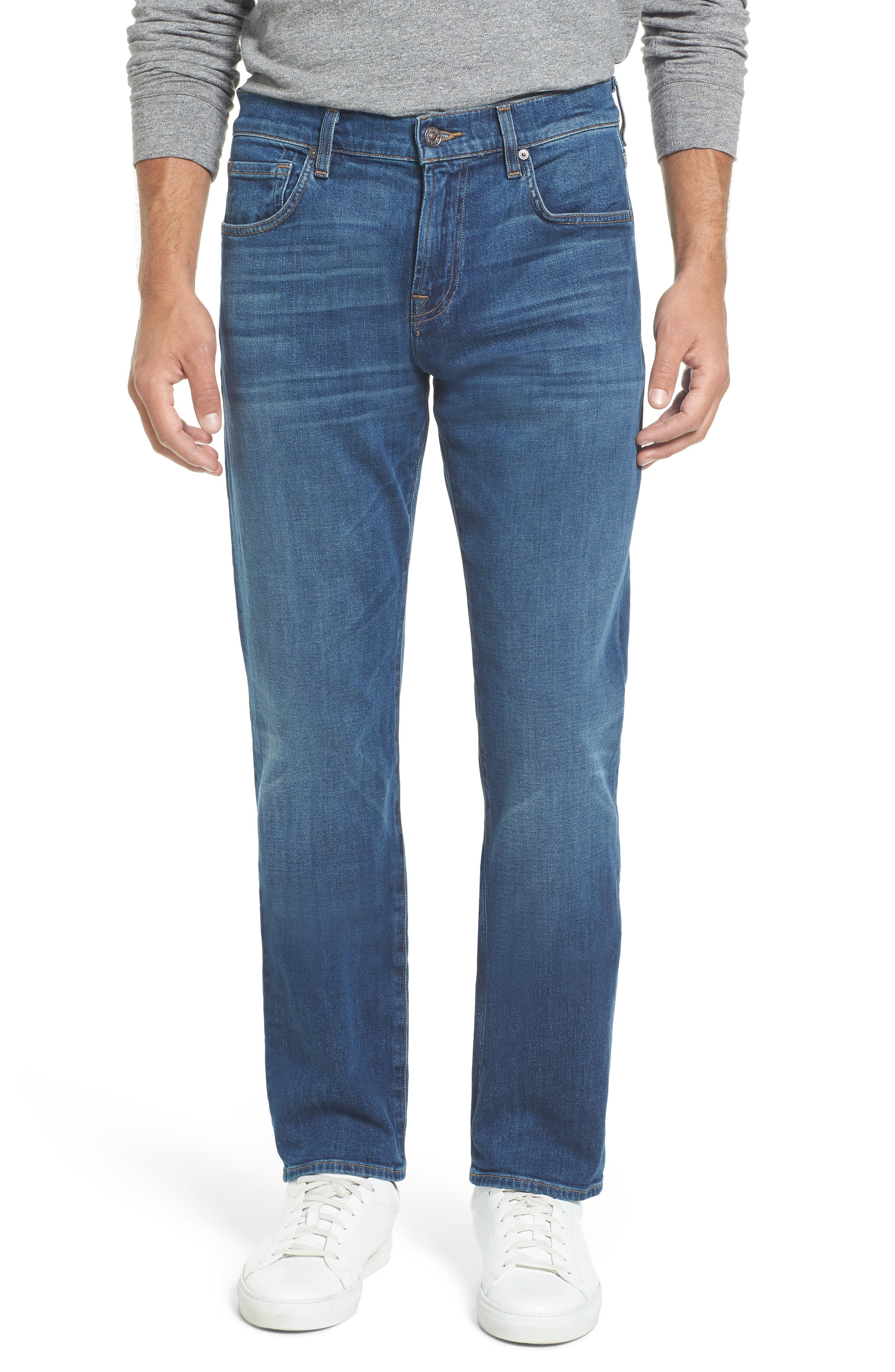 Main Image - 7 For All Mankind® The Straight Slim Straight Leg Jeans (Scout)