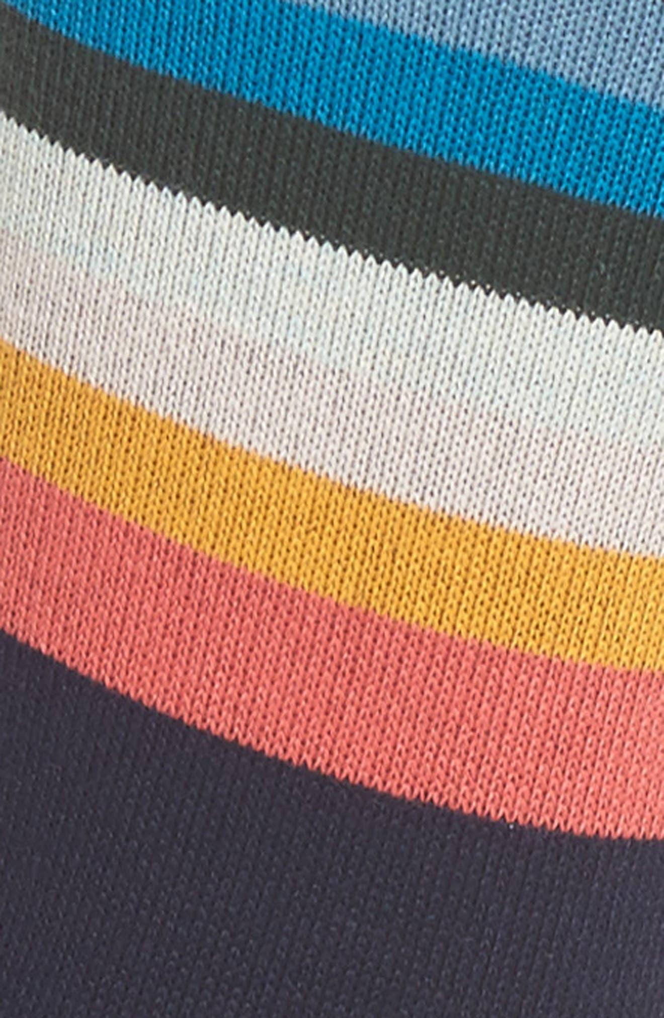 Cindy Artist Stripe Ankle Socks,                             Alternate thumbnail 2, color,                             Navy