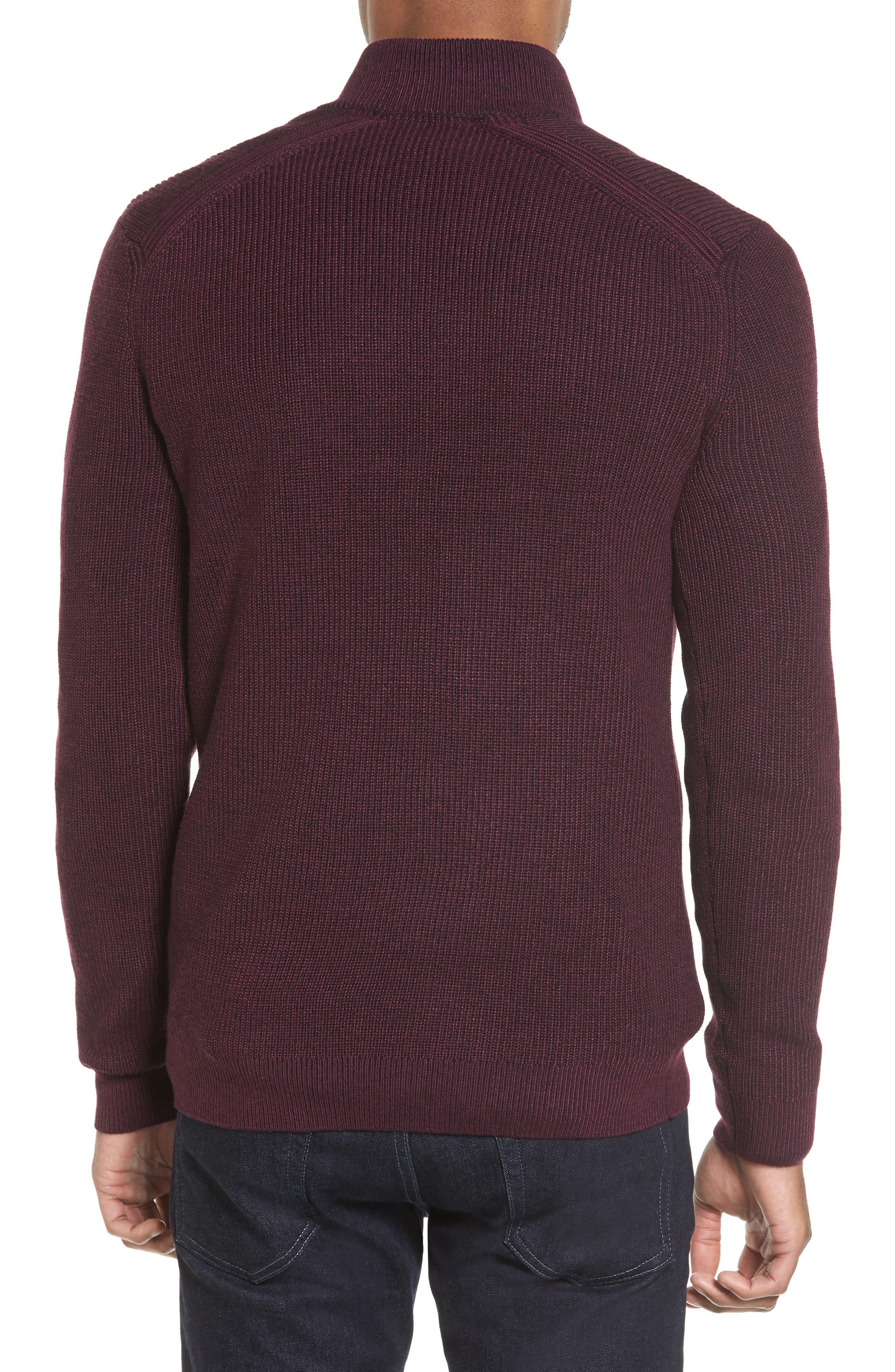 Stach Quarter Zip Sweater,                             Alternate thumbnail 2, color,                             Purple