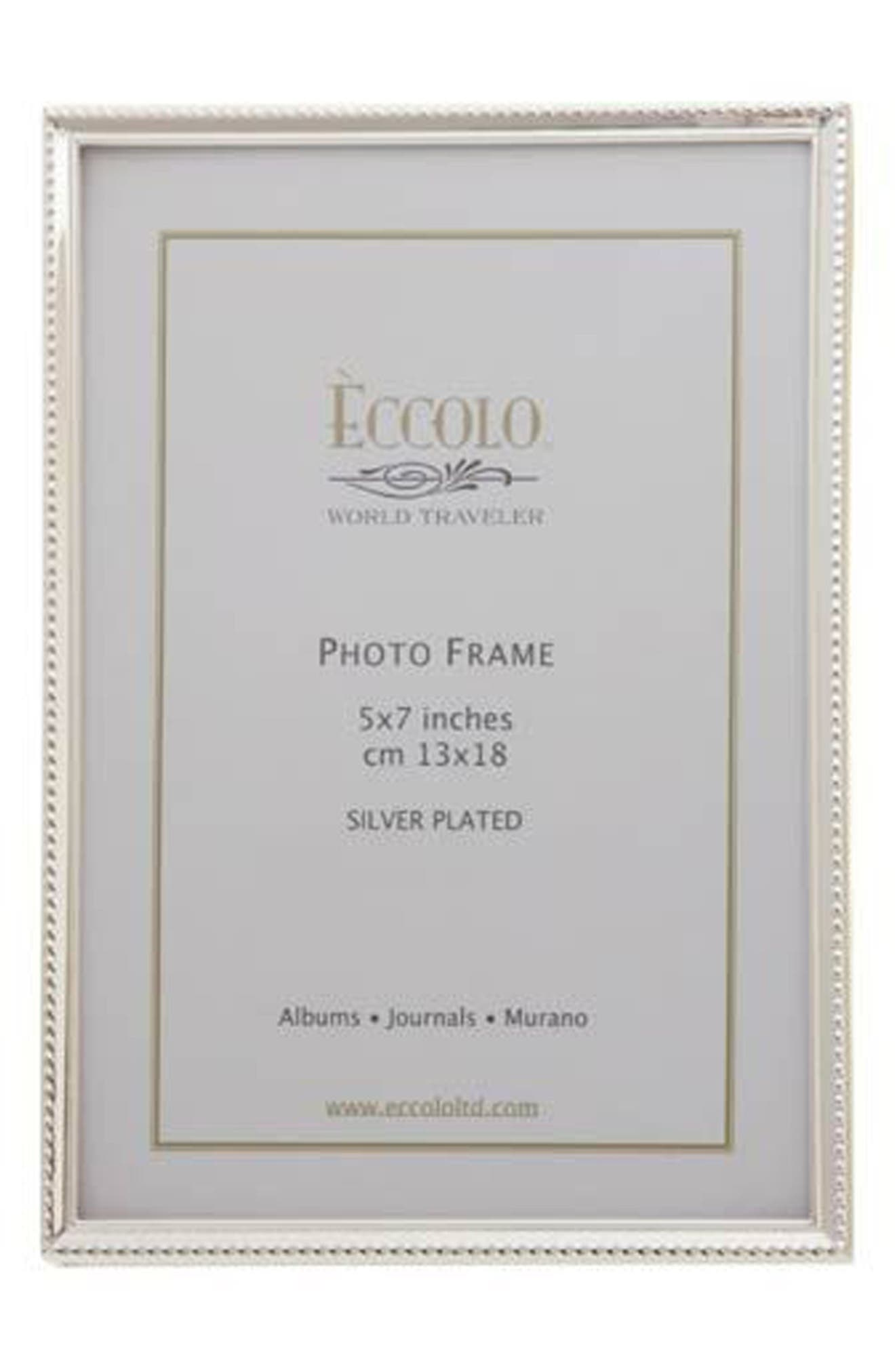 Alternate Image 1 Selected - Eccolo Beaded Silver Picture Frame