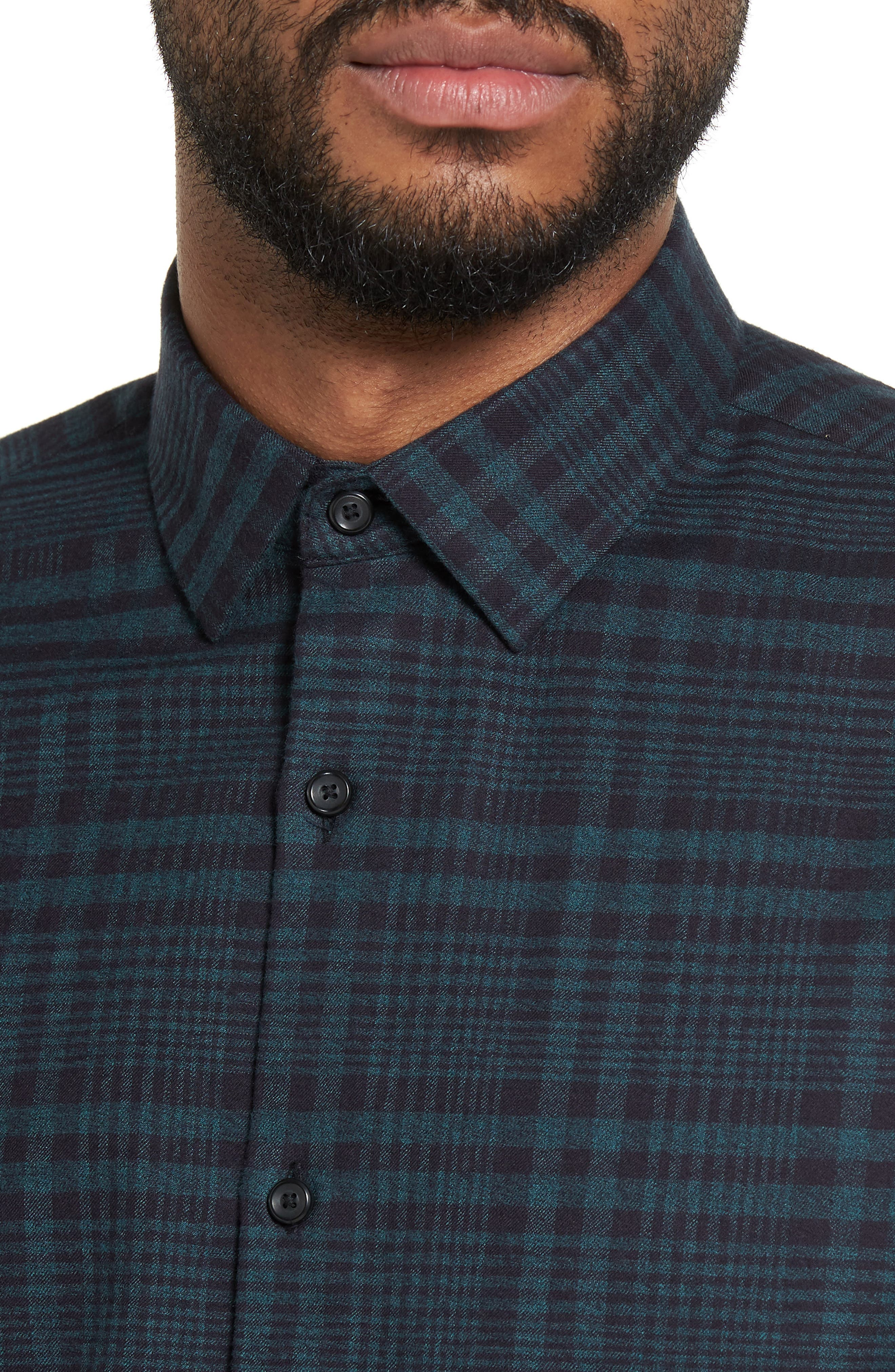 Alternate Image 4  - Calibrate Plaid Flannel Sport Shirt