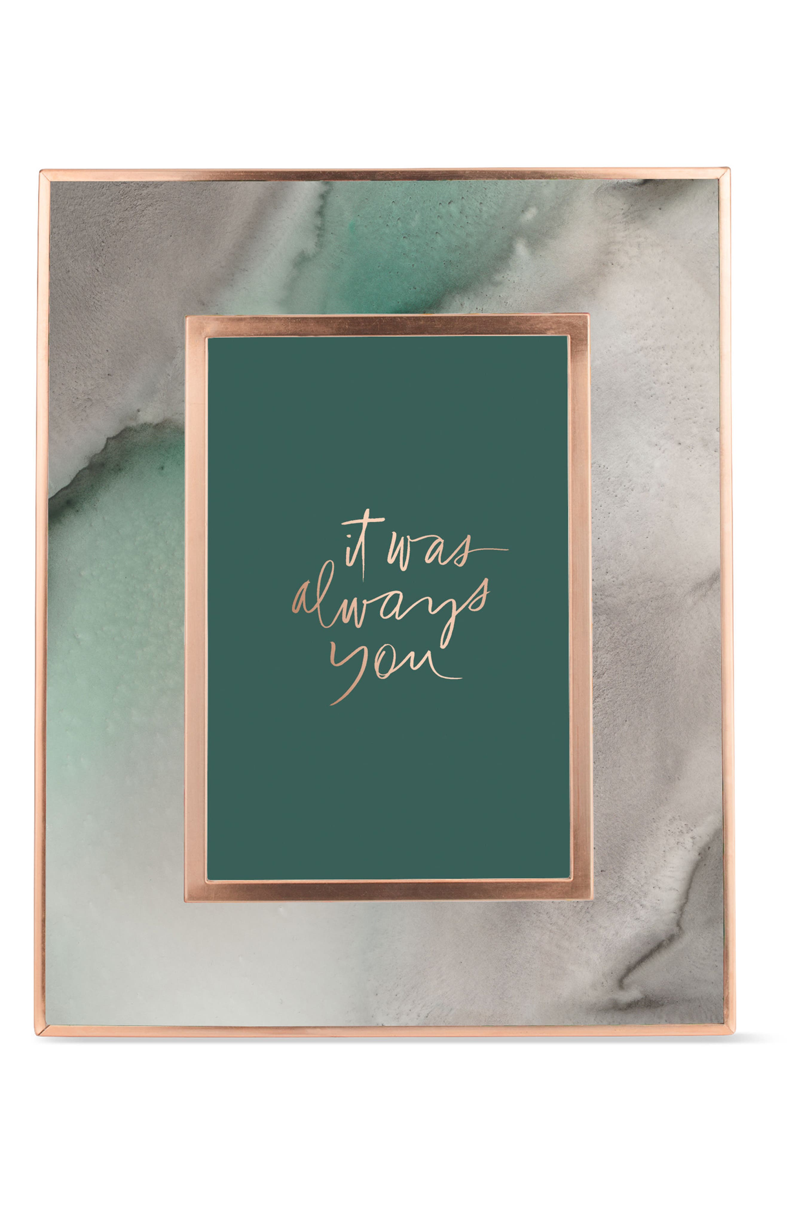 Mineral Picture Frame,                             Main thumbnail 1, color,                             Rose Gold