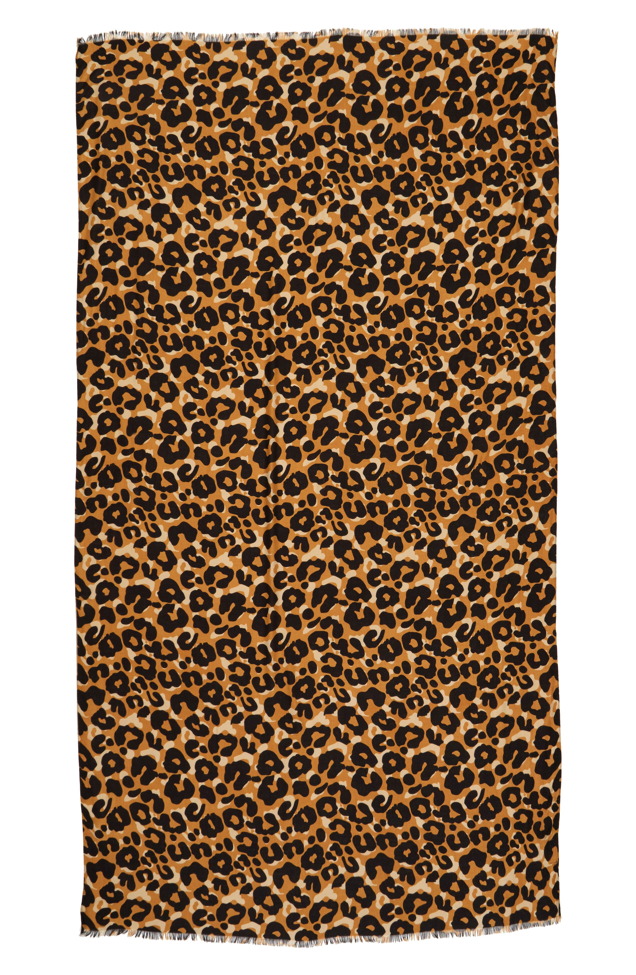 Alternate Image 2  - Sole Society Cheetah Print Scarf