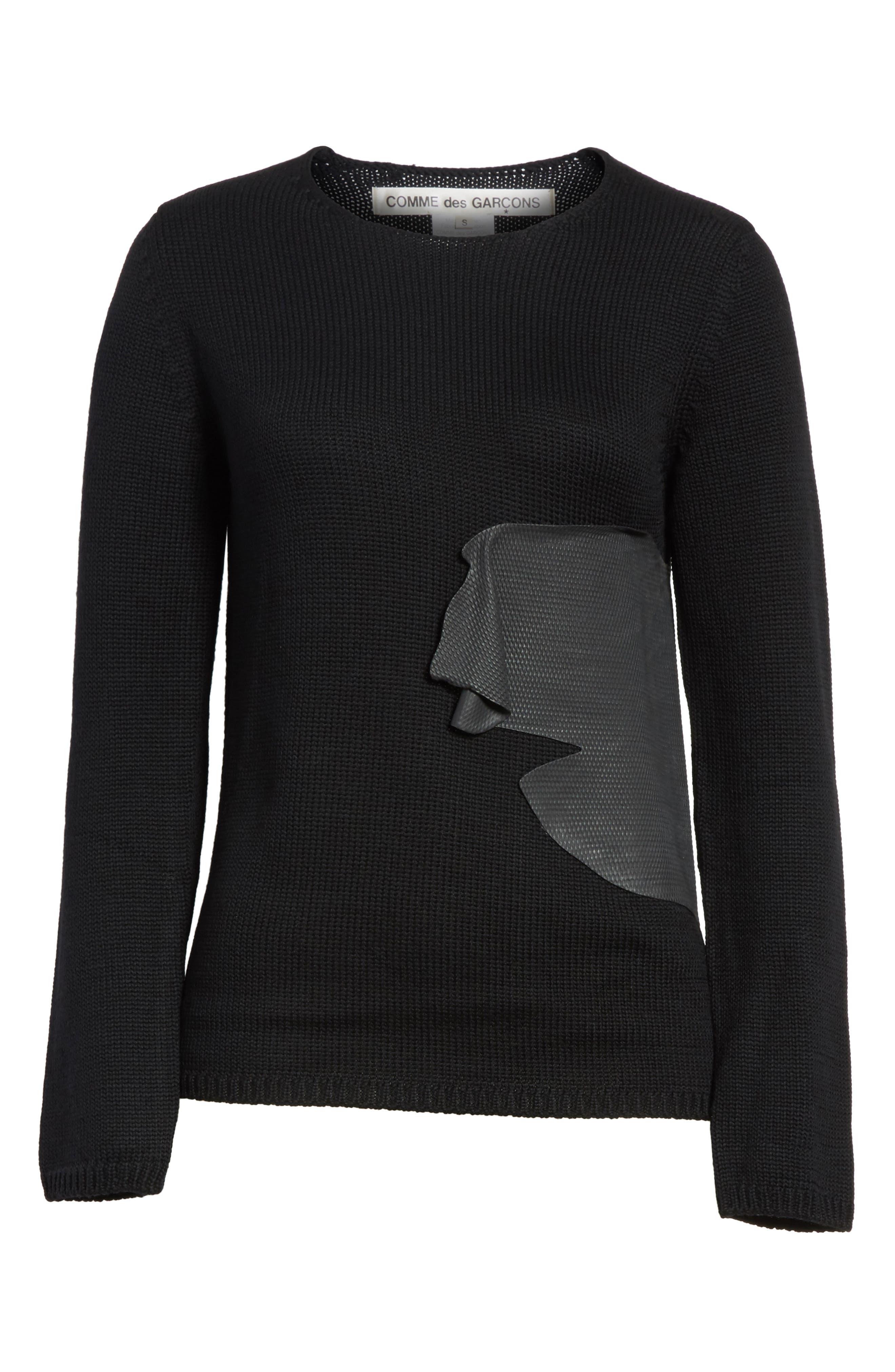 Alternate Image 6  - Comme des Garçons Rubber Detail Wool Sweater
