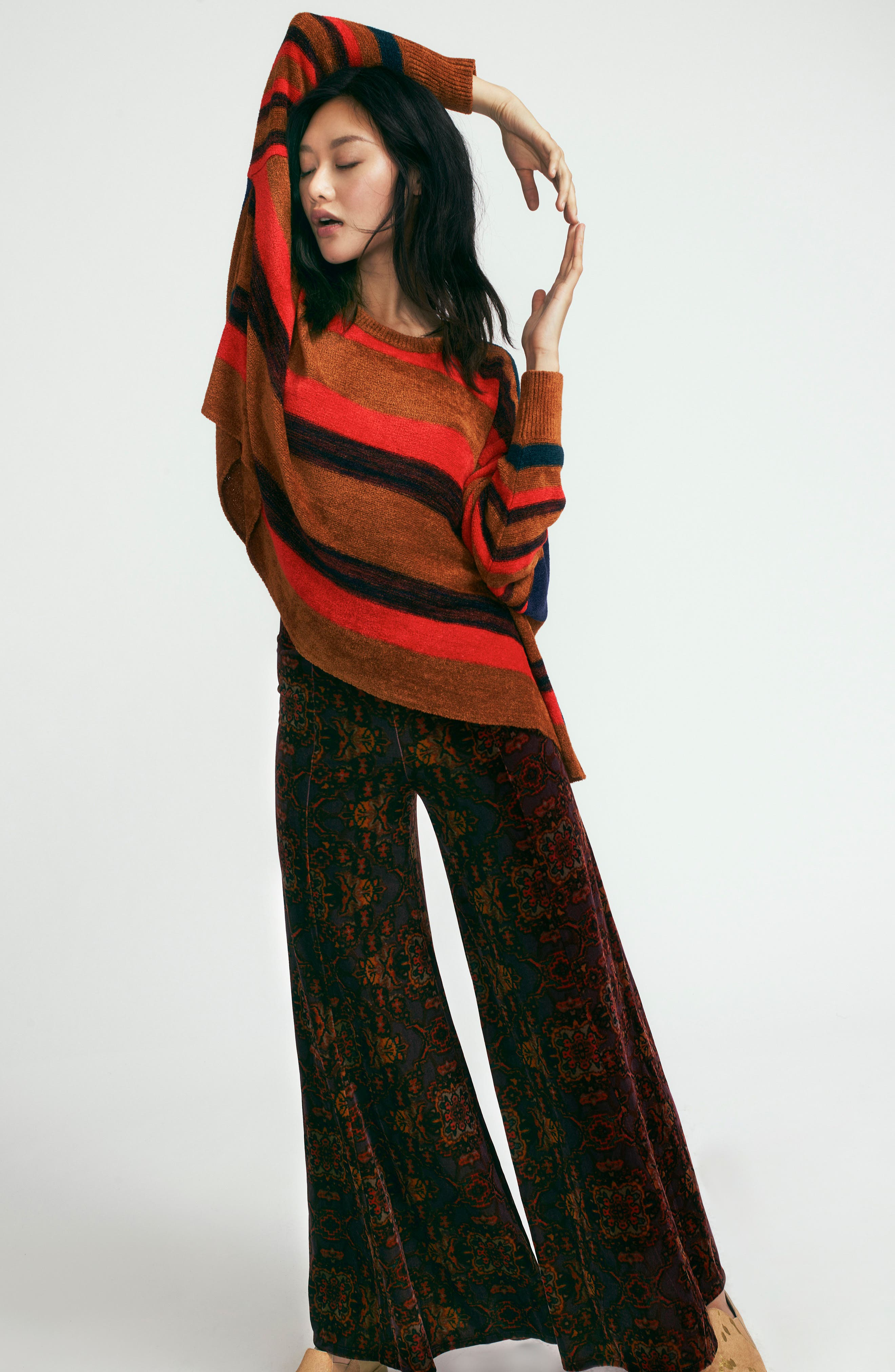 Alternate Image 2  - Free People Lovin' Feeling Velvet Wide Leg Pants