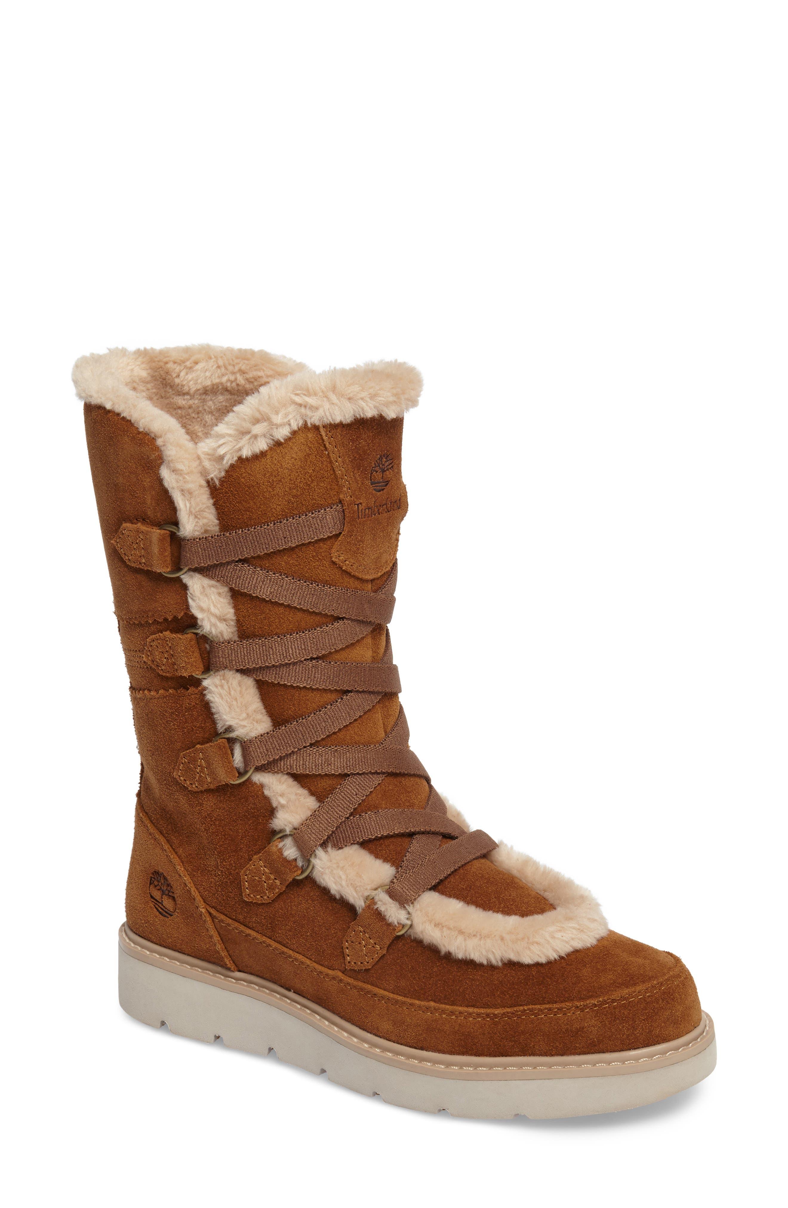 Main Image - Timberland Kenniston Faux Fur Water Resistant Mukluk Boot (Women)