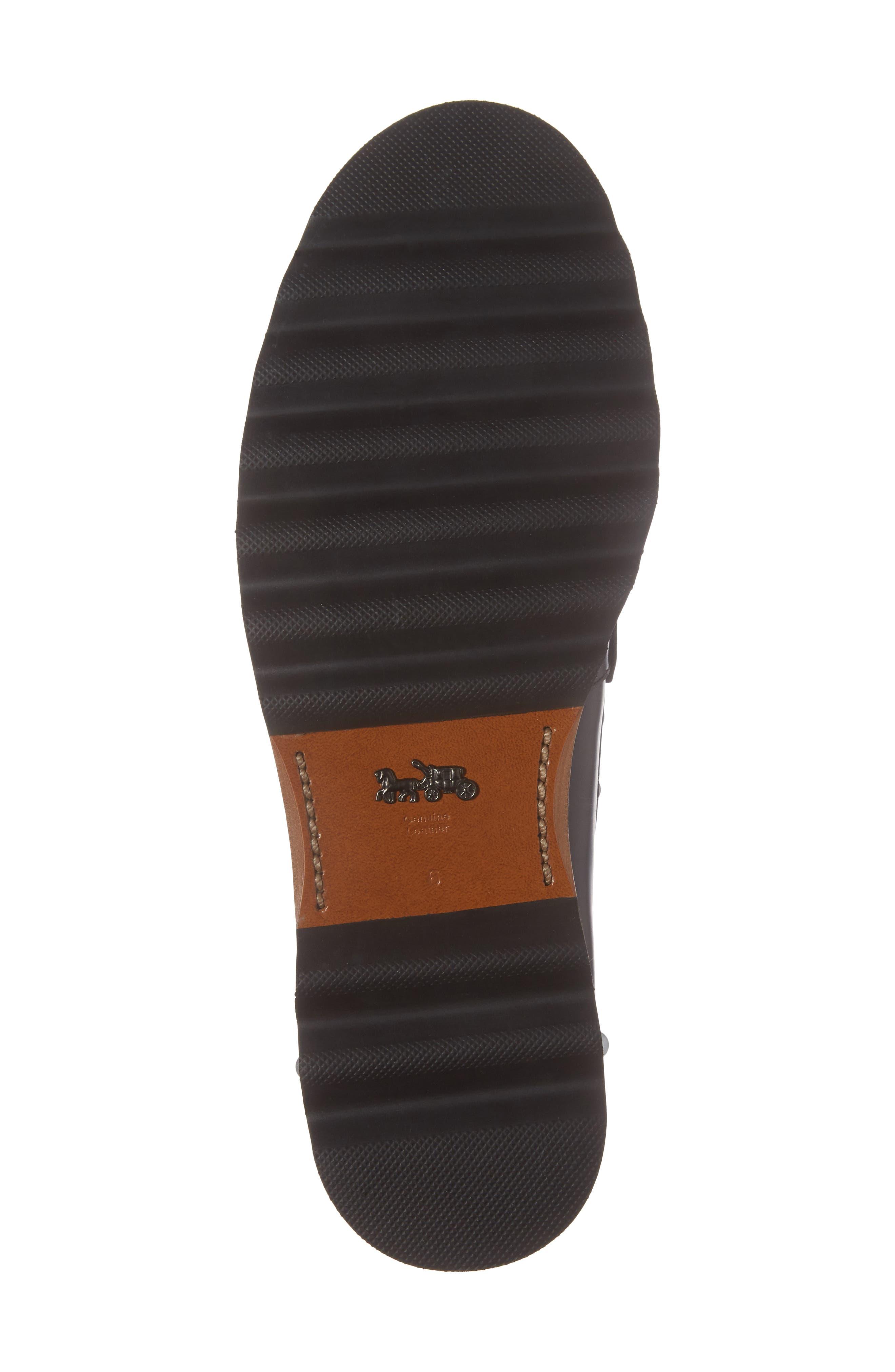 Lenox Loafer,                             Alternate thumbnail 6, color,                             Black Leather