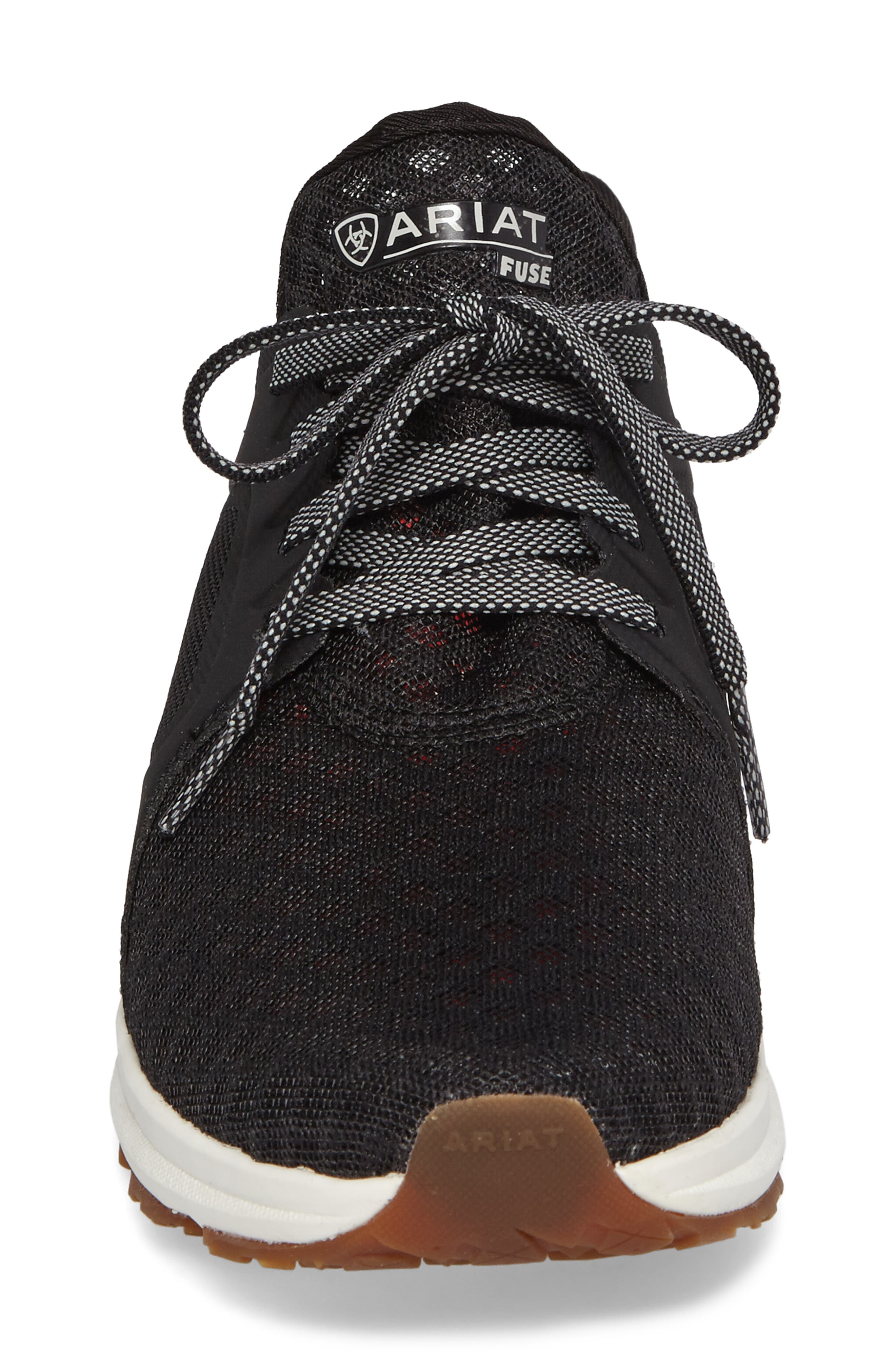 Fuse Sneaker,                             Alternate thumbnail 4, color,                             Black Mesh