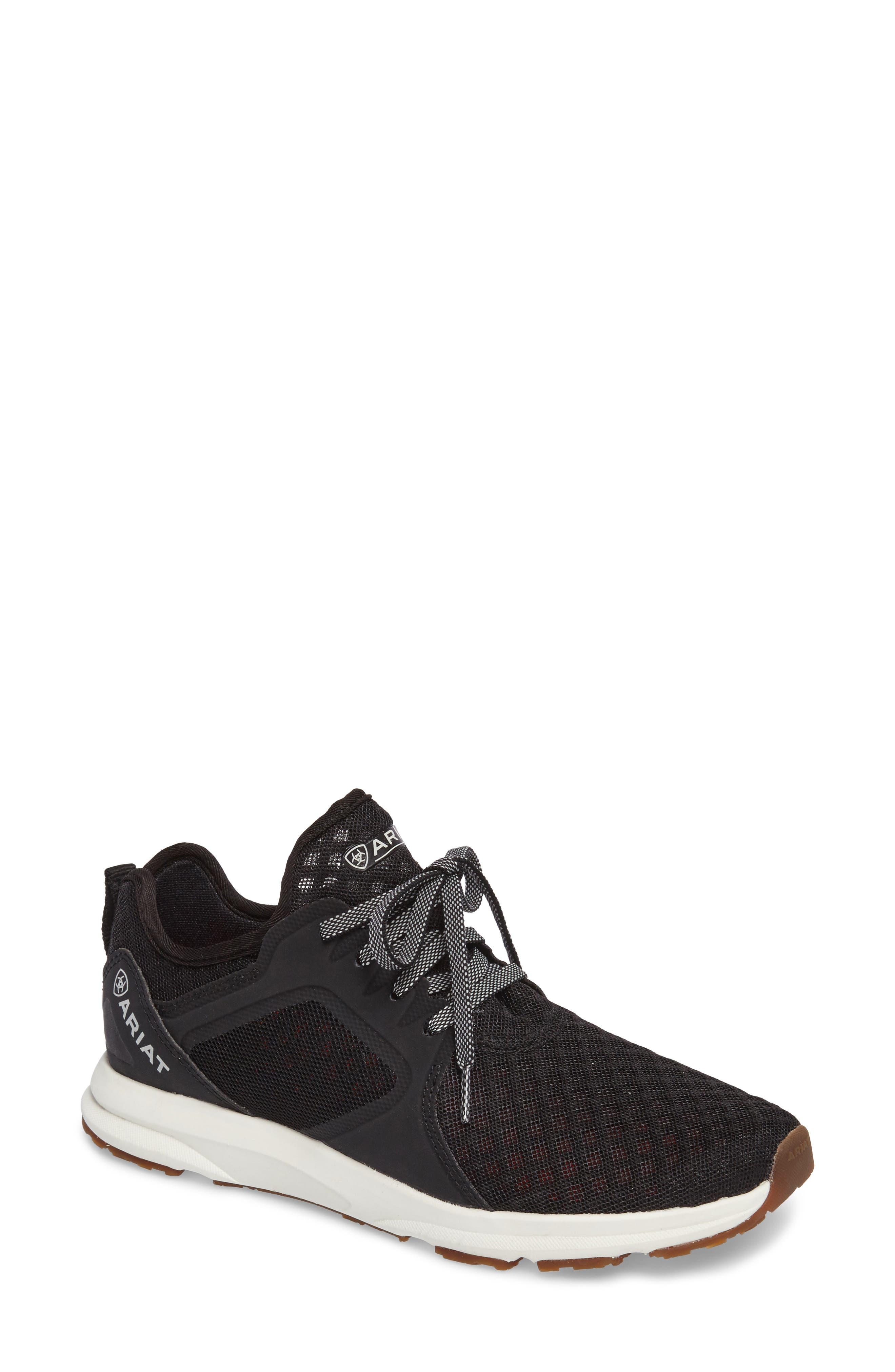 Fuse Sneaker,                         Main,                         color, Black Mesh