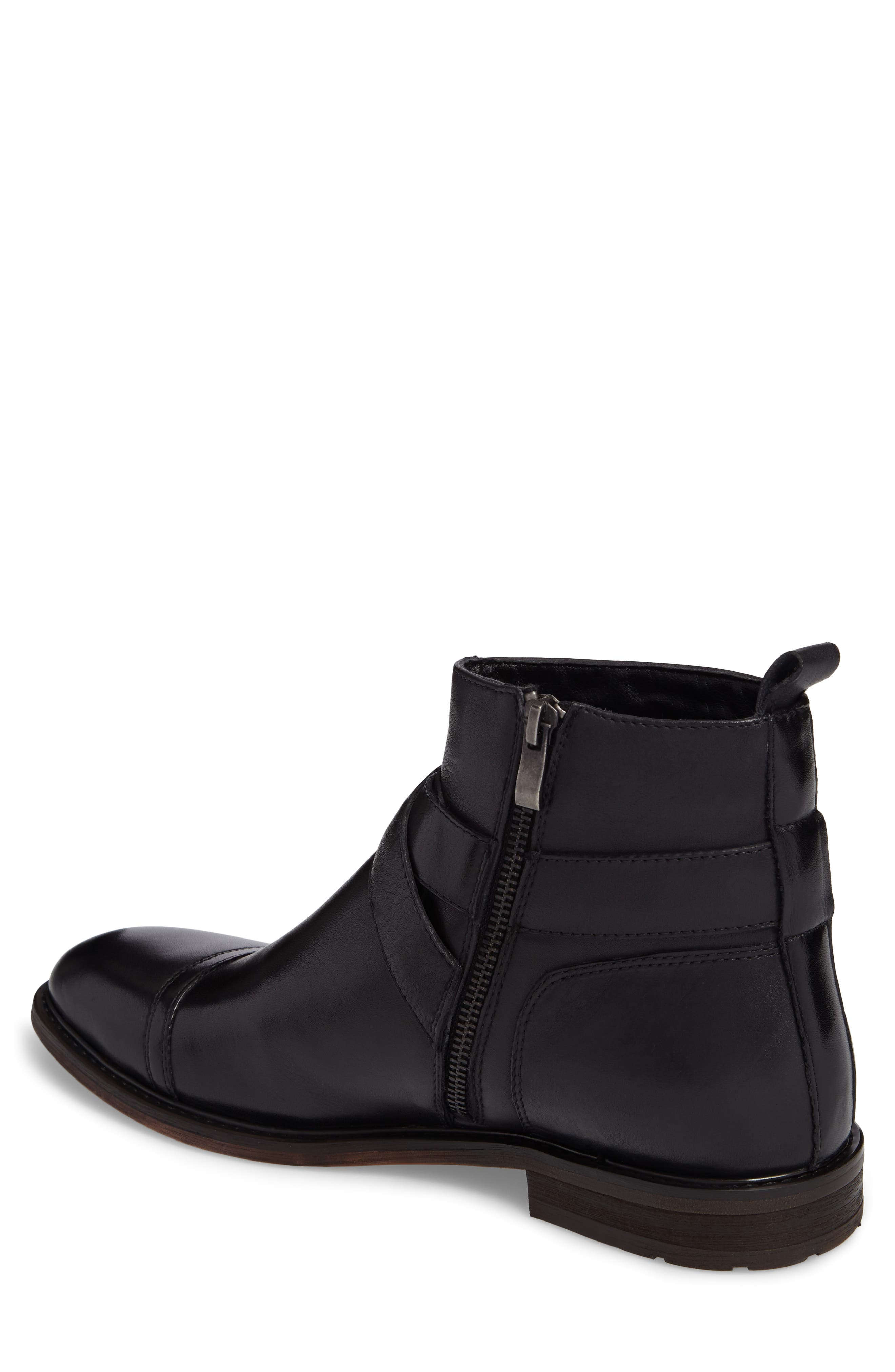 Edmond Zip Boot,                             Alternate thumbnail 2, color,                             Black Leather