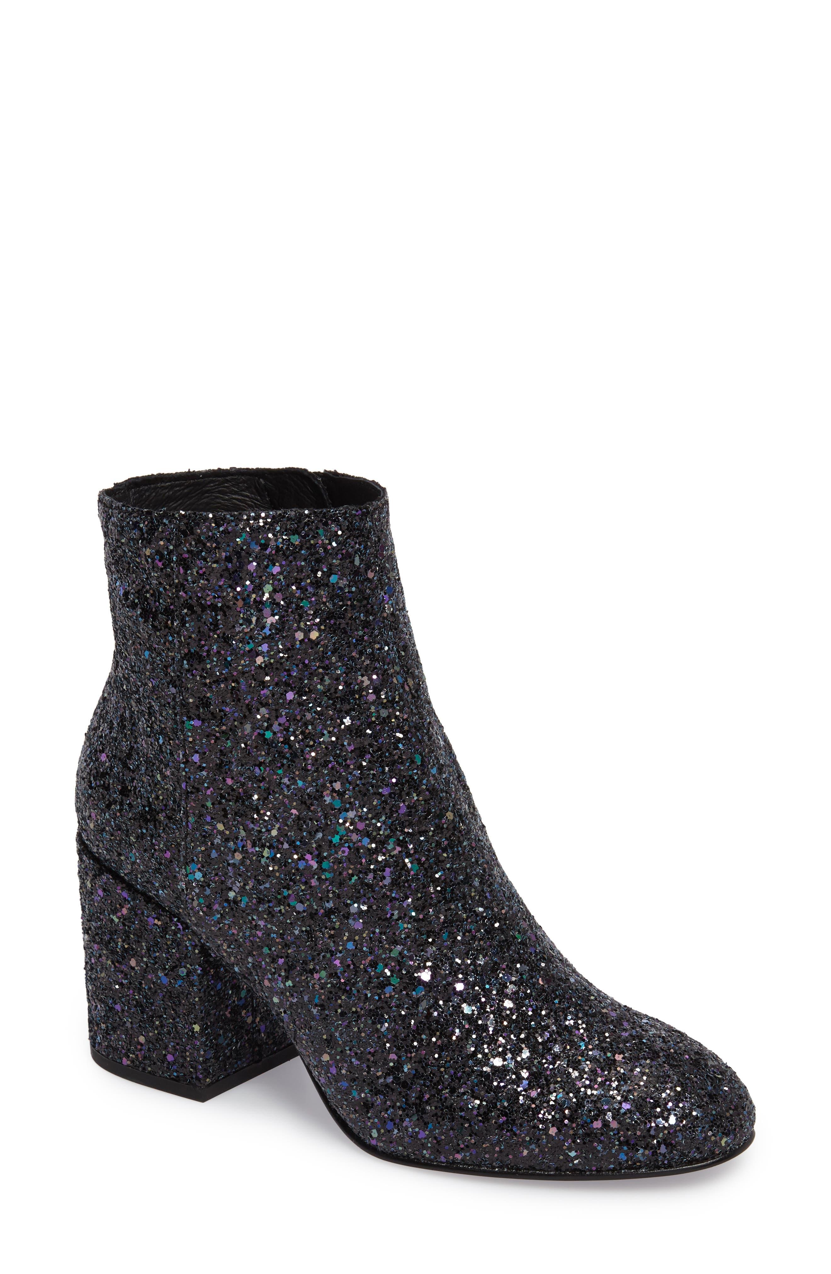 Egoiste Glitter Bootie,                         Main,                         color, Midnight Glitter Fabric