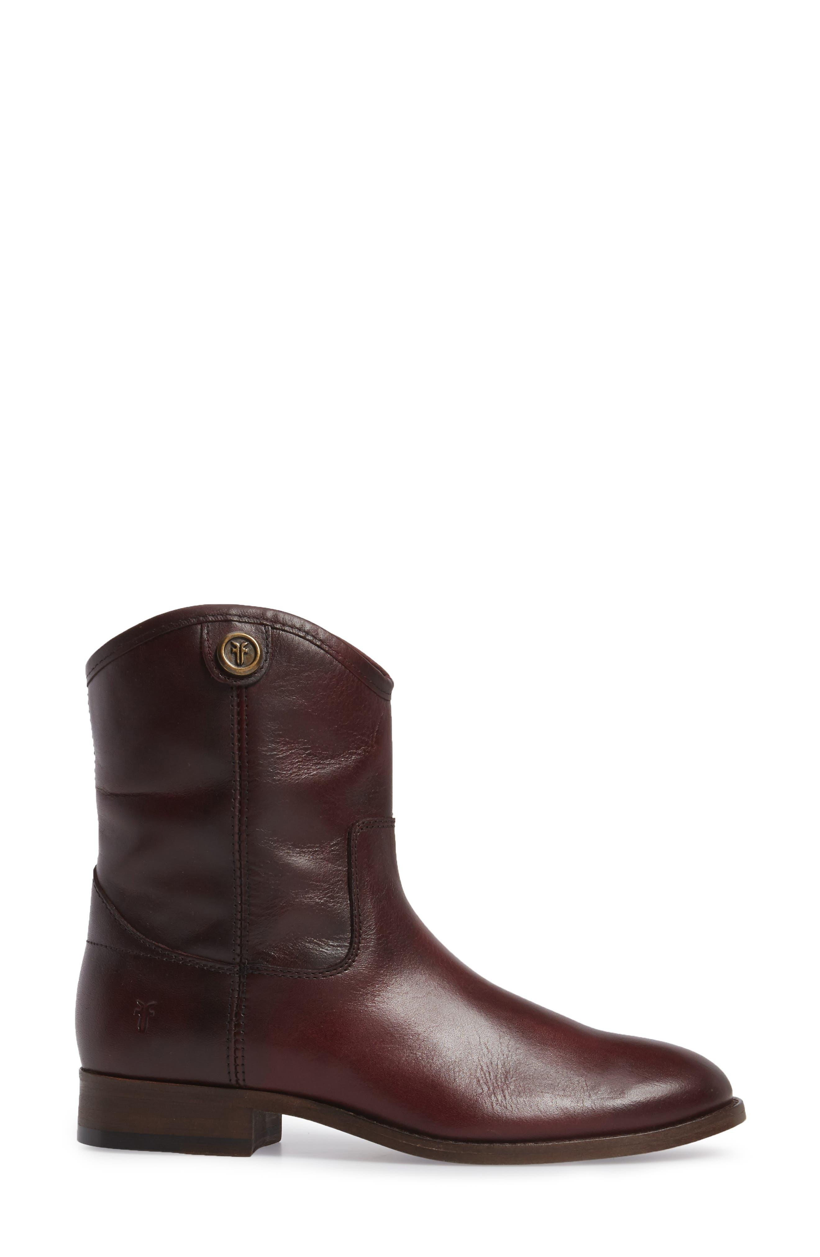 Melissa Short 2 Boot,                             Alternate thumbnail 3, color,                             Wine Leather