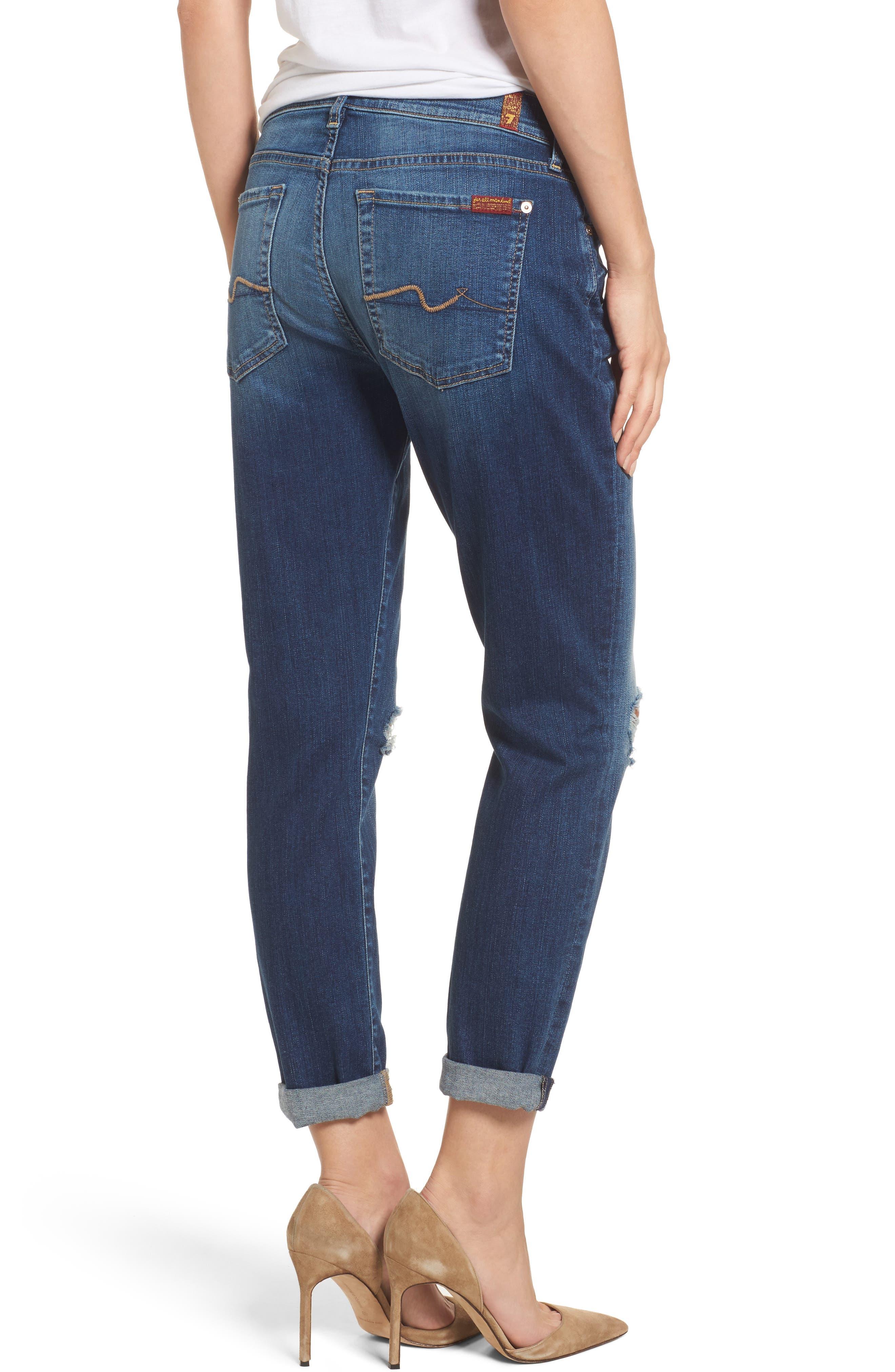 Alternate Image 2  - 7 For All Mankind® Josefina Destroyed Boyfriend Jeans (Liberty)
