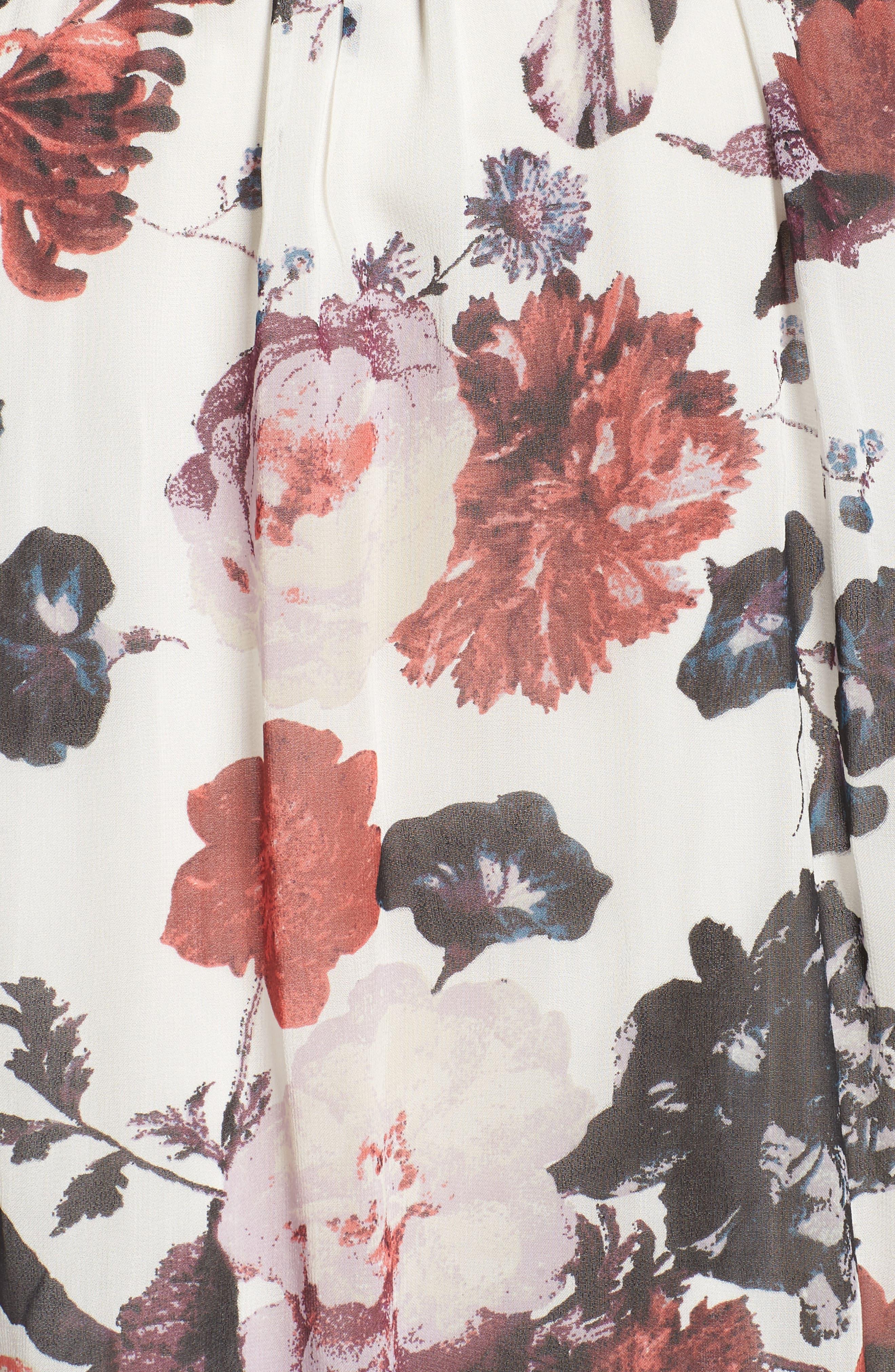 Alternate Image 5  - Lucky Brand Smock Yoke Floral Top (Plus Size)
