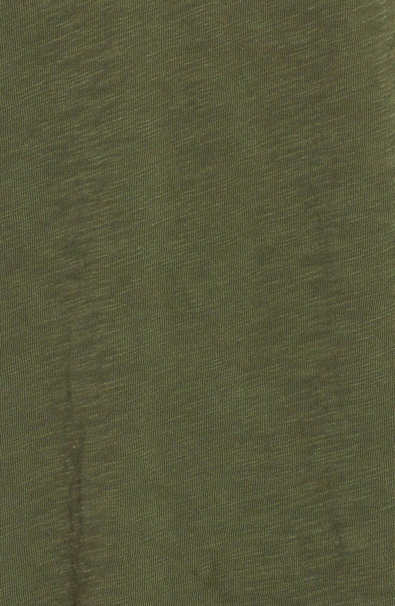Long Sleeve Henley T-Shirt,                             Alternate thumbnail 5, color,                             Olive