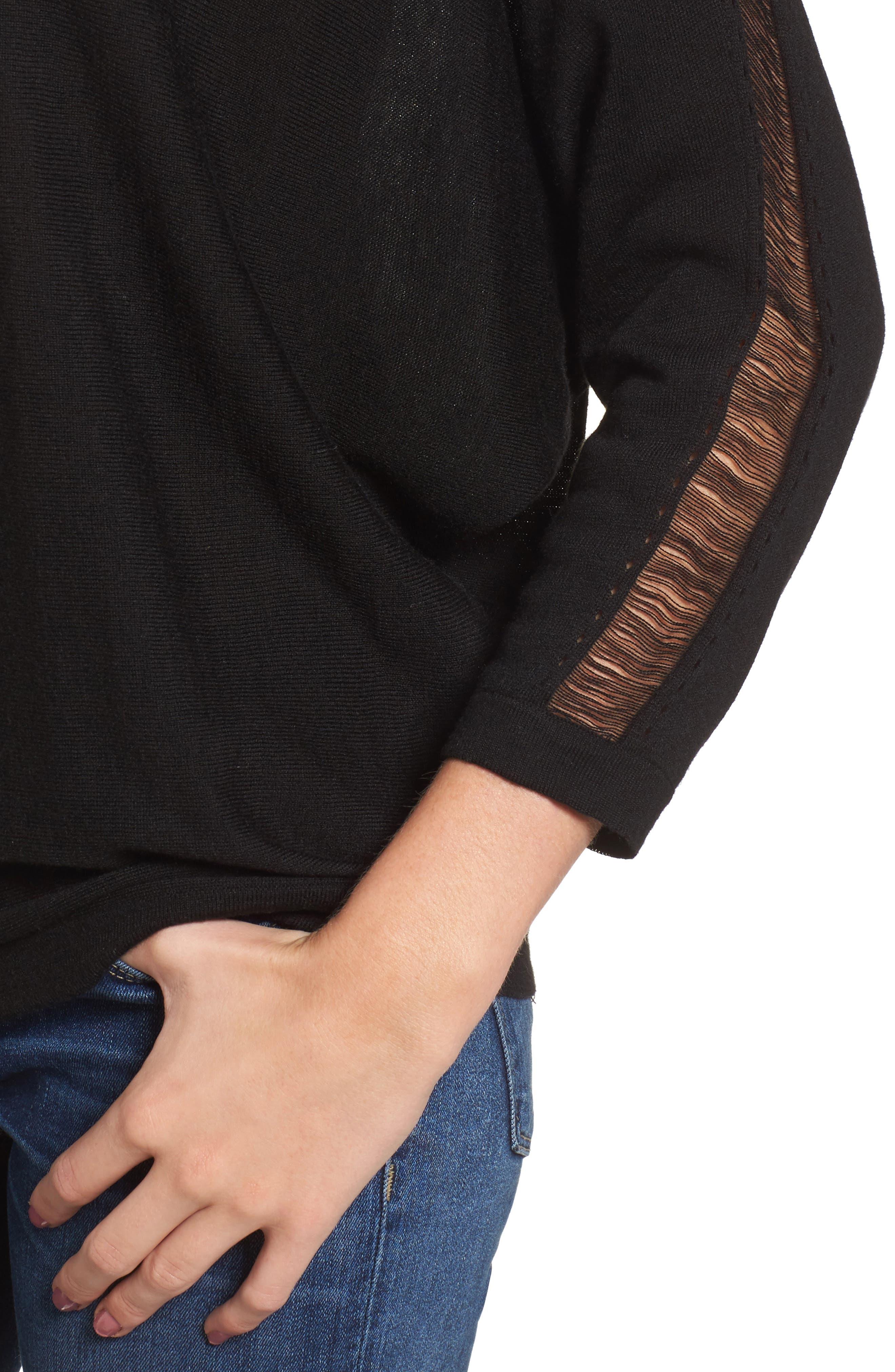 Whitlock Sweater,                             Alternate thumbnail 4, color,                             Black