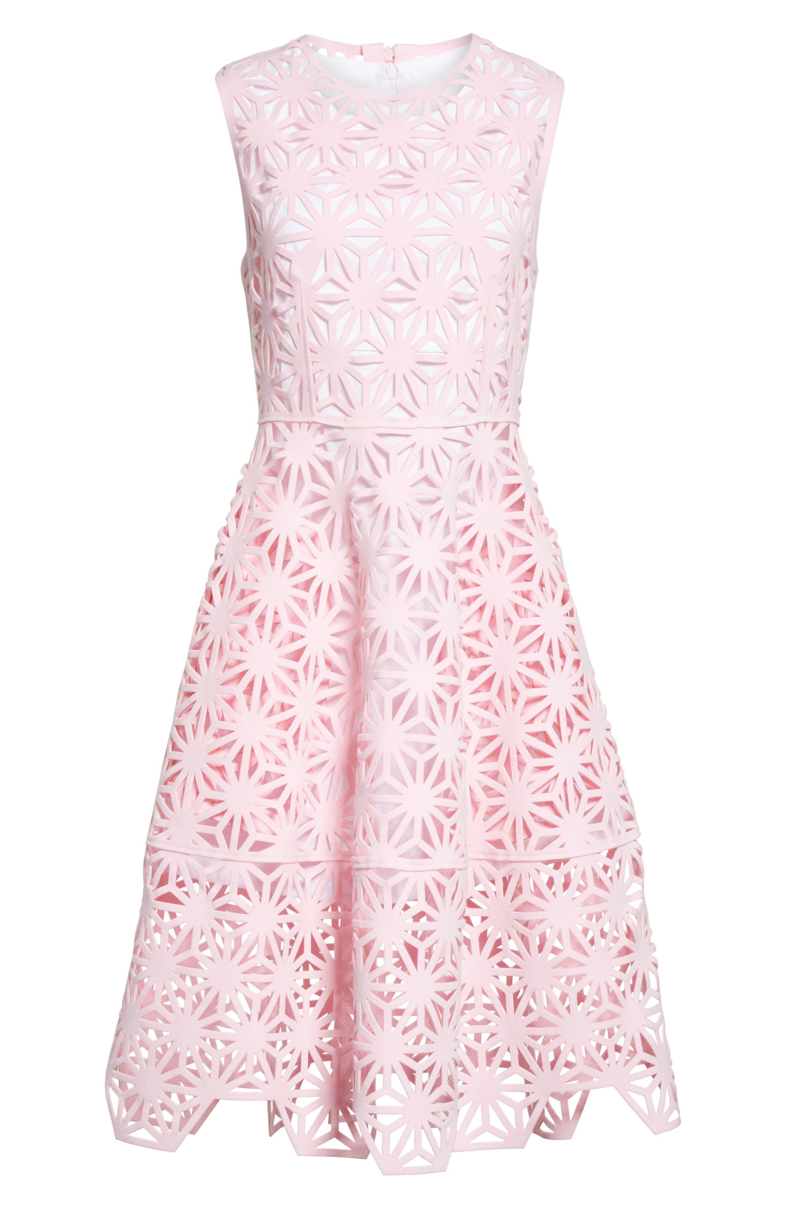 Alternate Image 6  - PASKAL Geo Laser Cut Fit & Flare Dress
