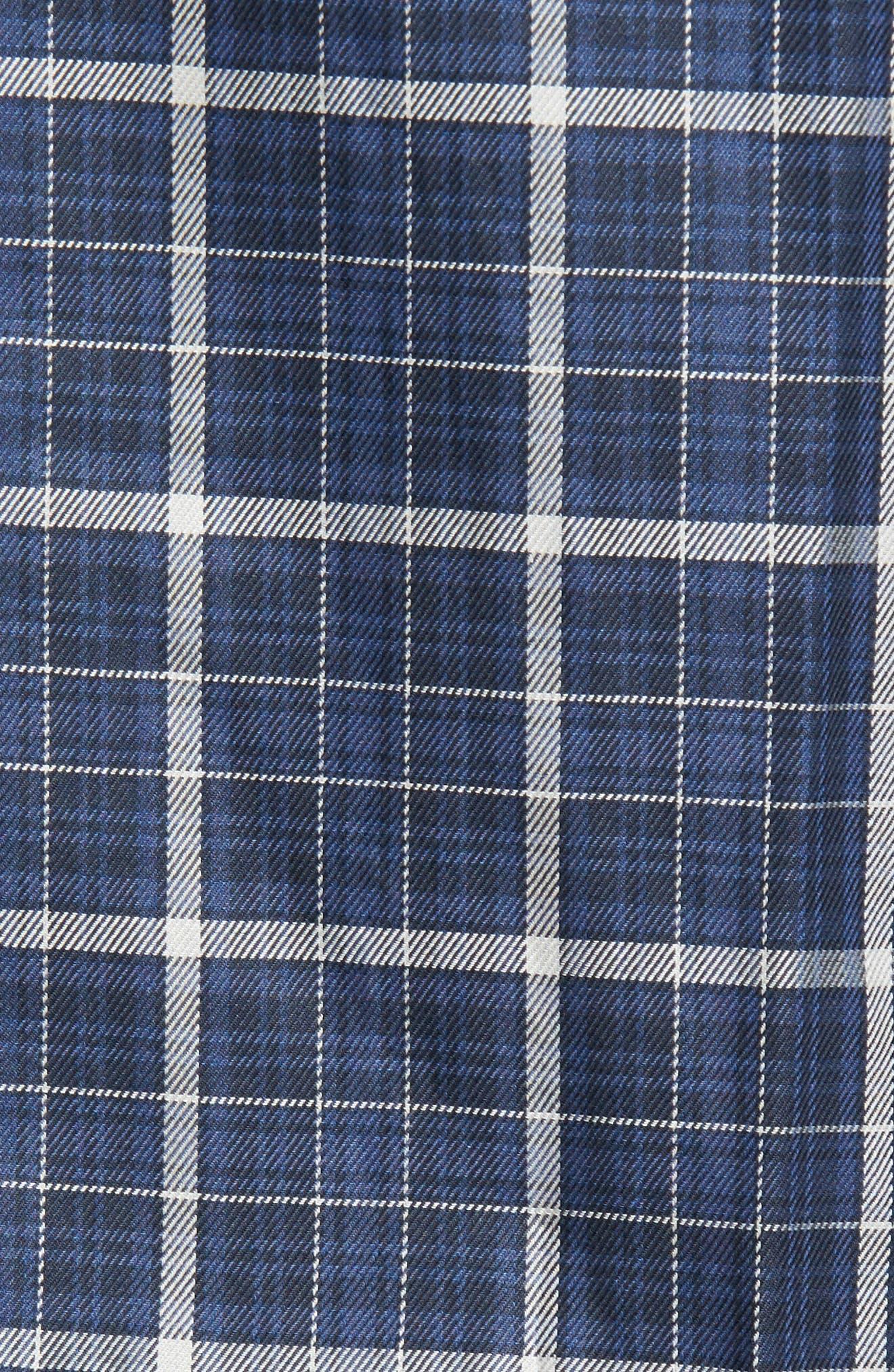 Alternate Image 5  - Bugatchi Trim Fit Windowpane Sport Shirt