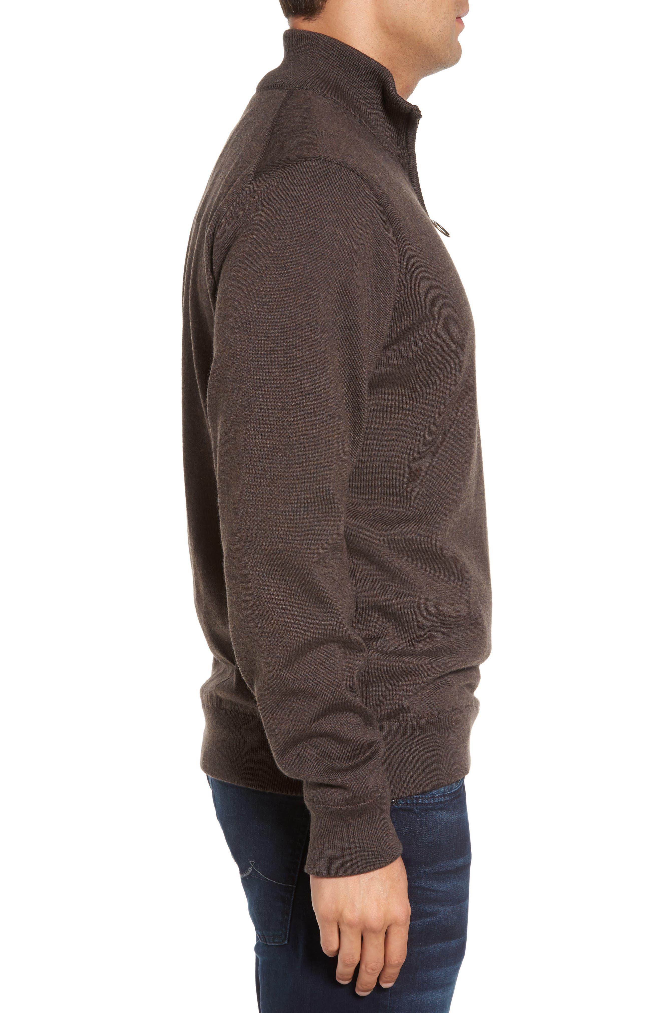 Alternate Image 3  - Barbour Gamlin Quarter Zip Wool Pullover
