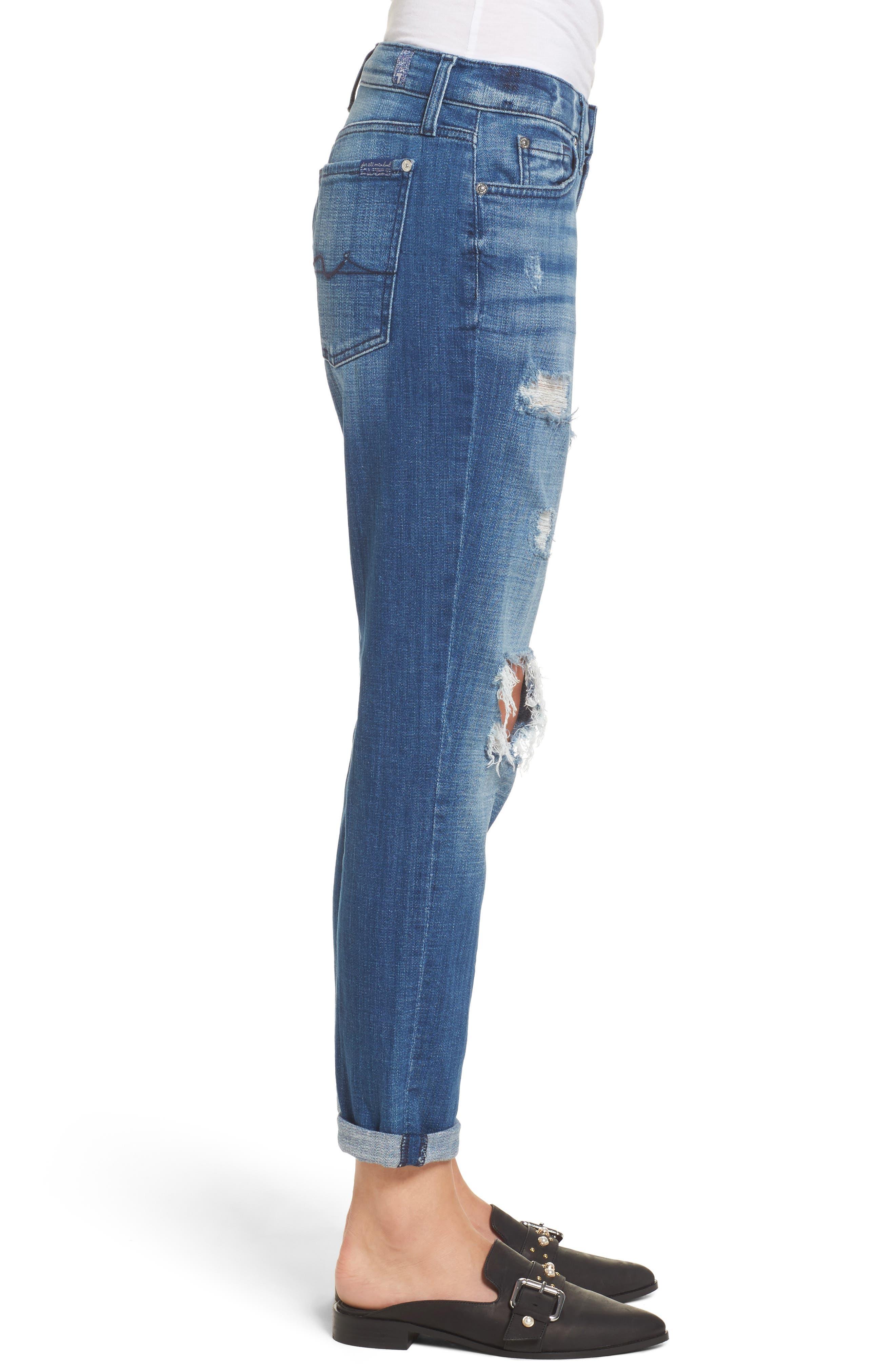 Josefina Boyfriend Jeans,                             Alternate thumbnail 3, color,                             Boyd Blue 2