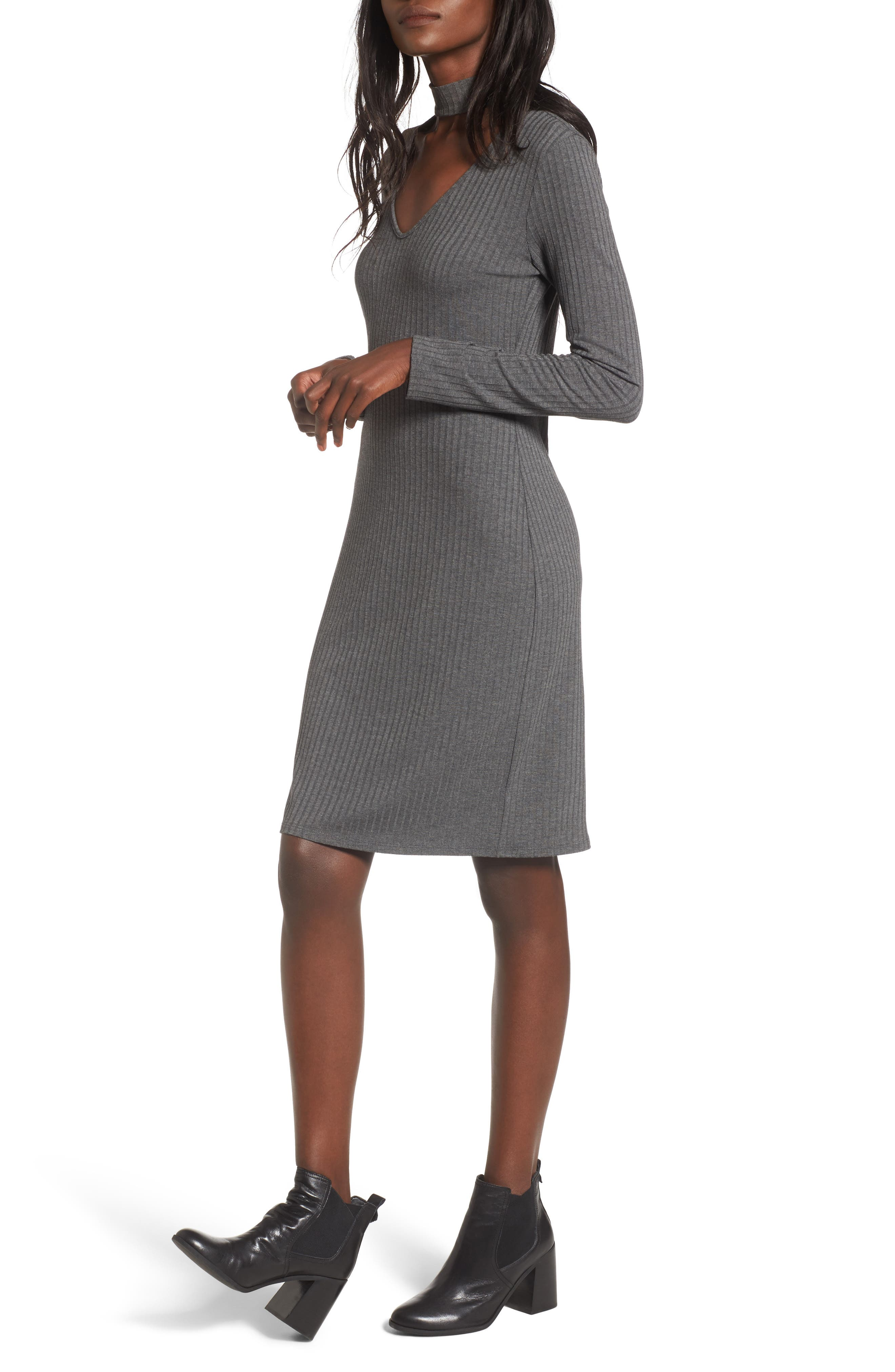 One Clothing Ribbed Choker Dress