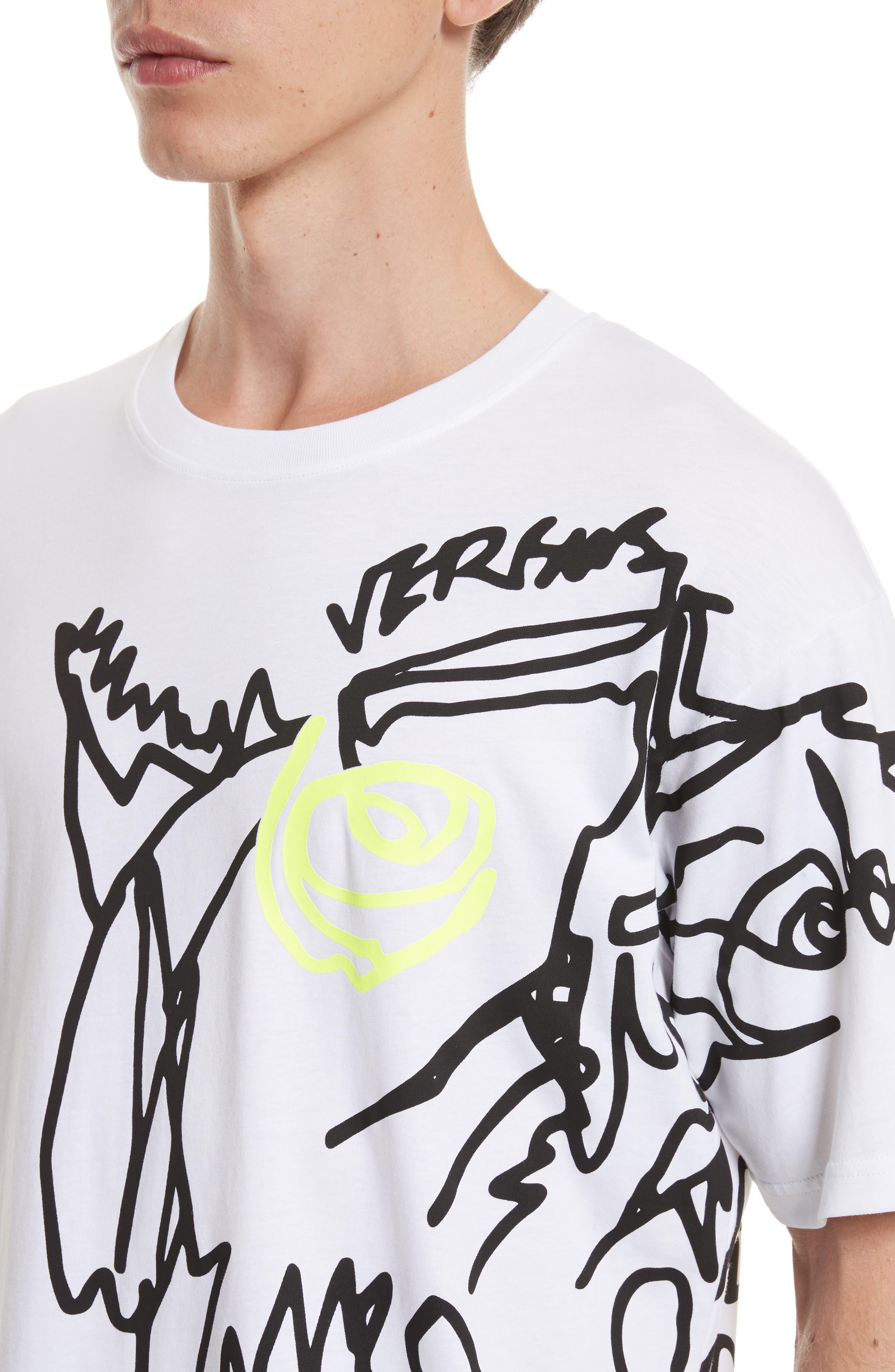 Alternate Image 4  - VERSUS by Versace Scribble Print T-Shirt